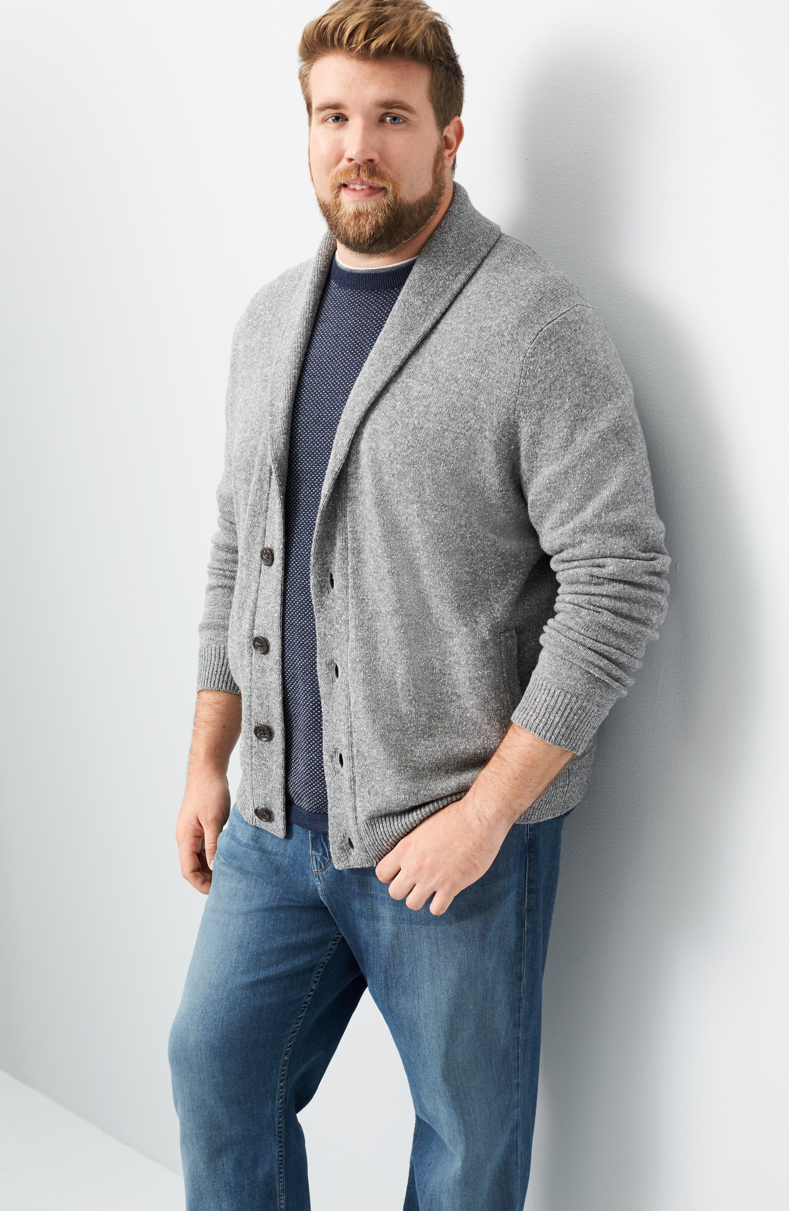 Shawl Collar Cardigan,                             Alternate thumbnail 8, color,                             030