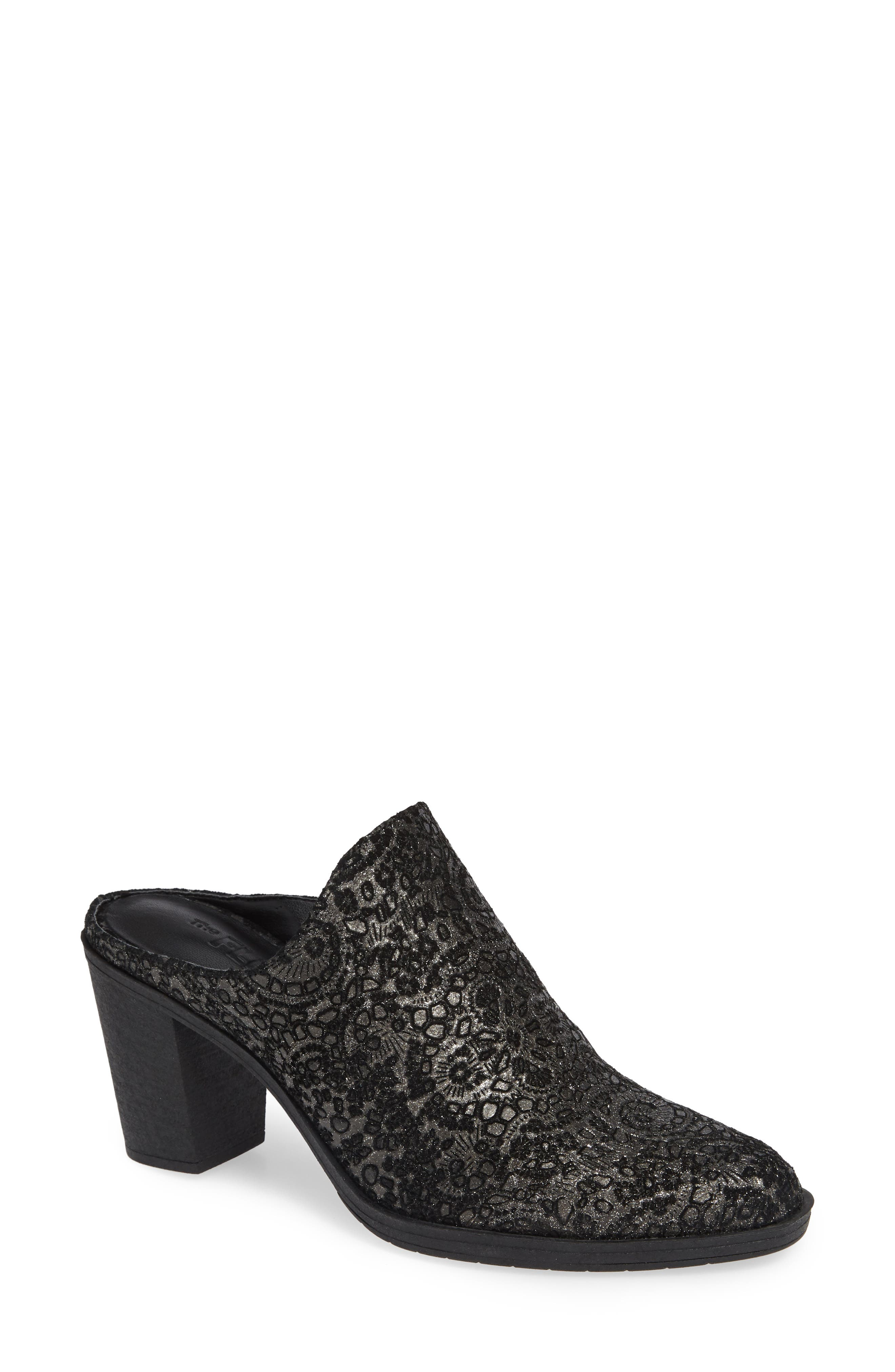 THE FLEXX Rock Me Mule, Main, color, GREY LEATHER