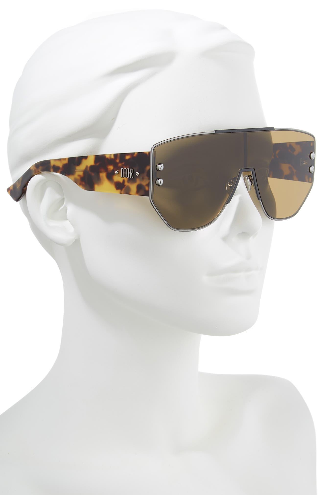 72mm Rimless Shield Sunglasses,                             Alternate thumbnail 2, color,                             DARK RUTHENIUM/ BLACK