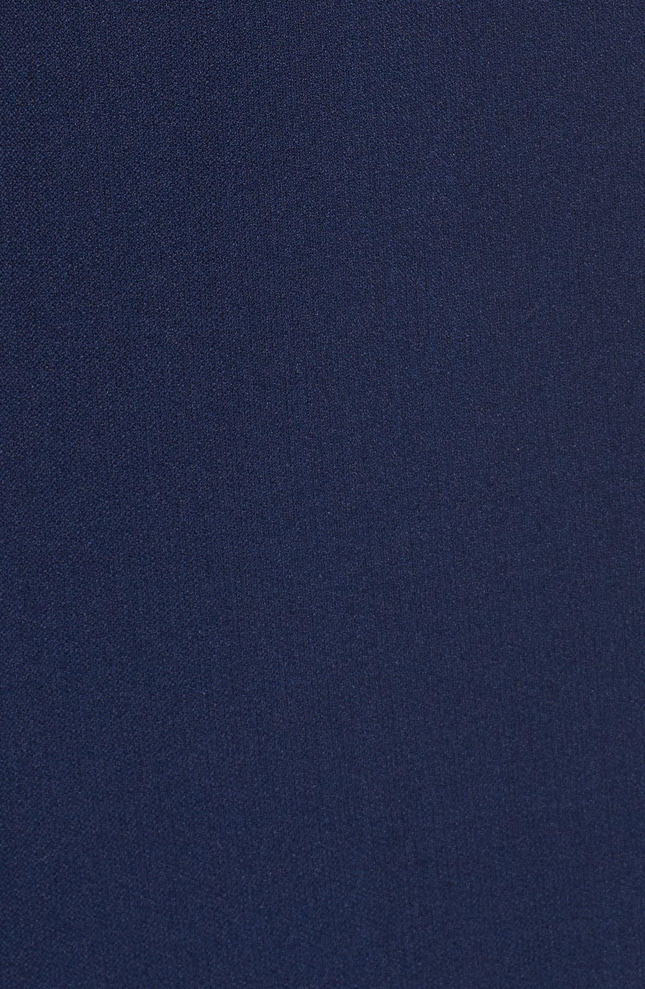 Drape Neck Fit & Flare Dress,                             Alternate thumbnail 5, color,                             412