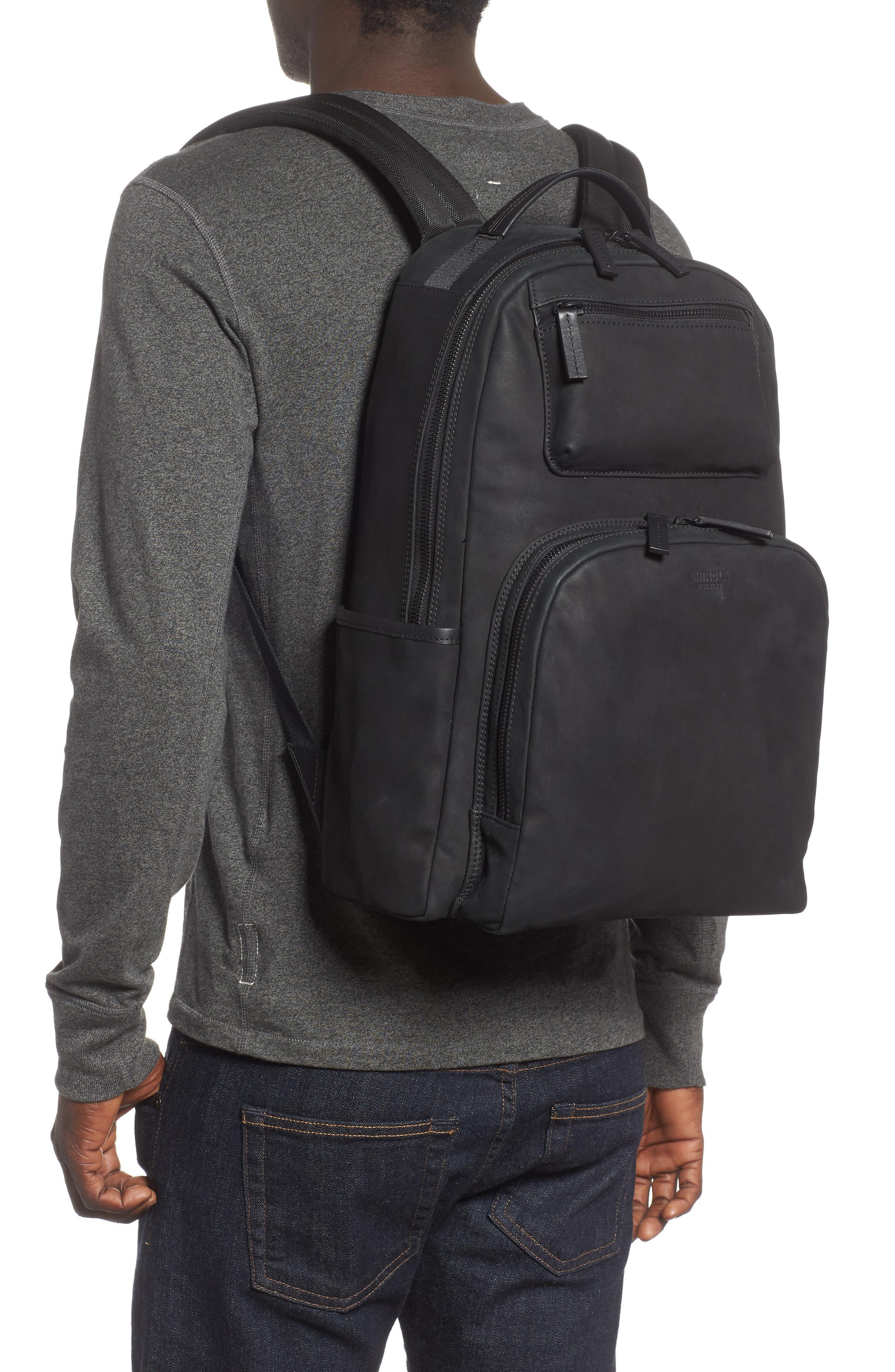 Nubuck Utility Backpack,                             Alternate thumbnail 2, color,                             BLACK