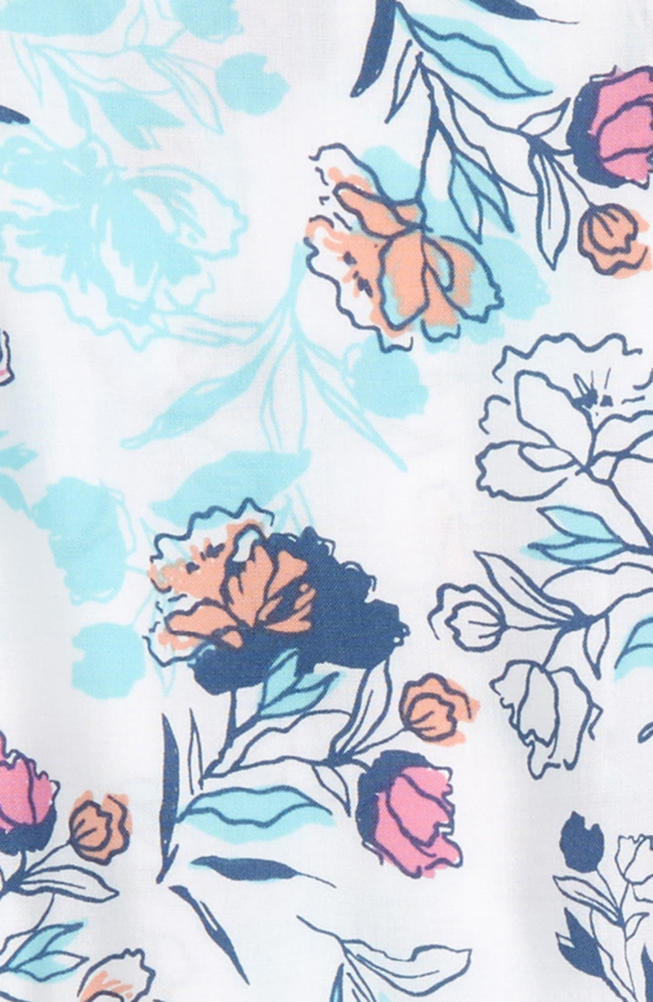 SPLENDID,                             Floral Print Romper,                             Alternate thumbnail 2, color,                             110