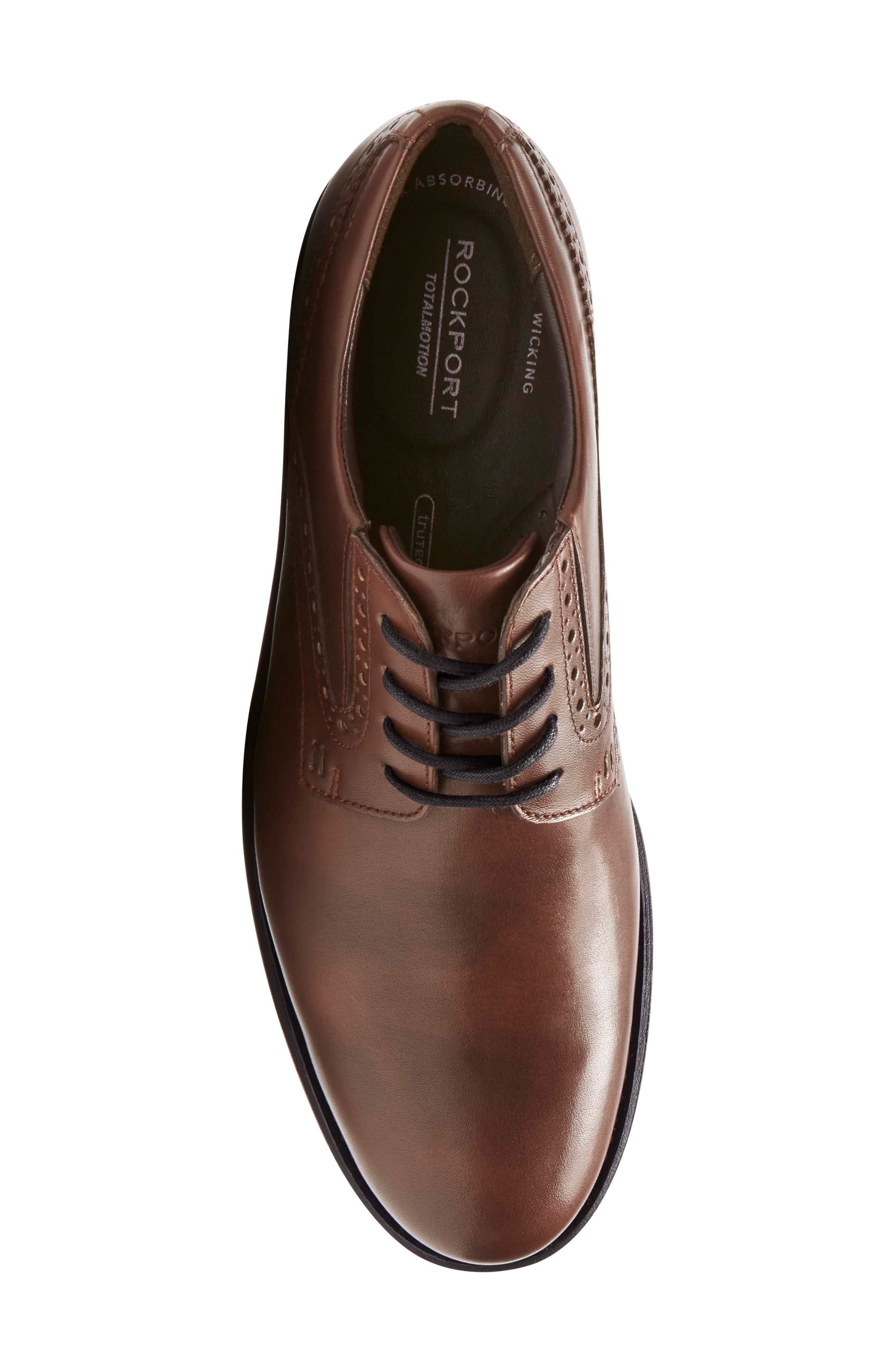 Total Motion Classic Plain Toe Derby,                             Alternate thumbnail 5, color,                             NEW BROWN LEATHER