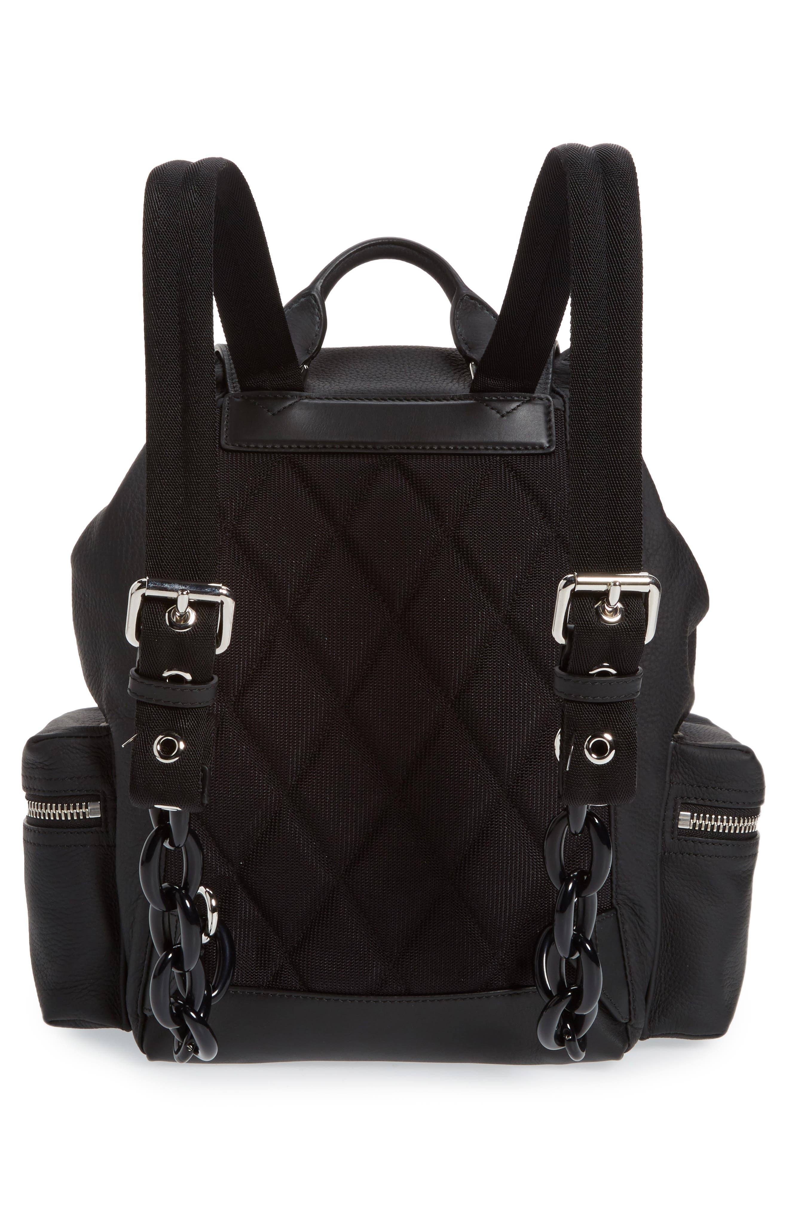 Medium Rucksack Leather Backpack,                             Alternate thumbnail 3, color,