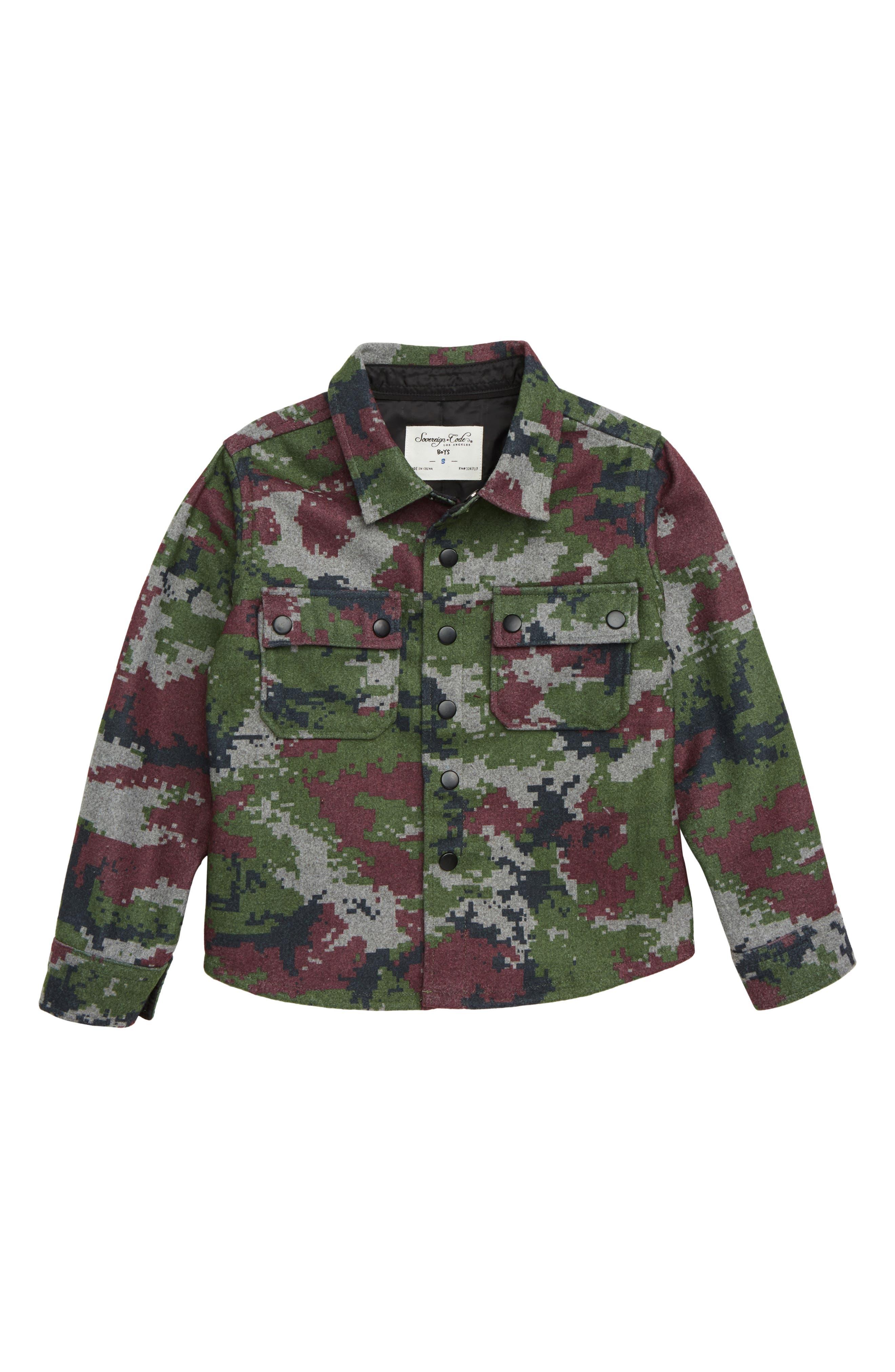 Redding Jacket,                         Main,                         color, RED CAMO