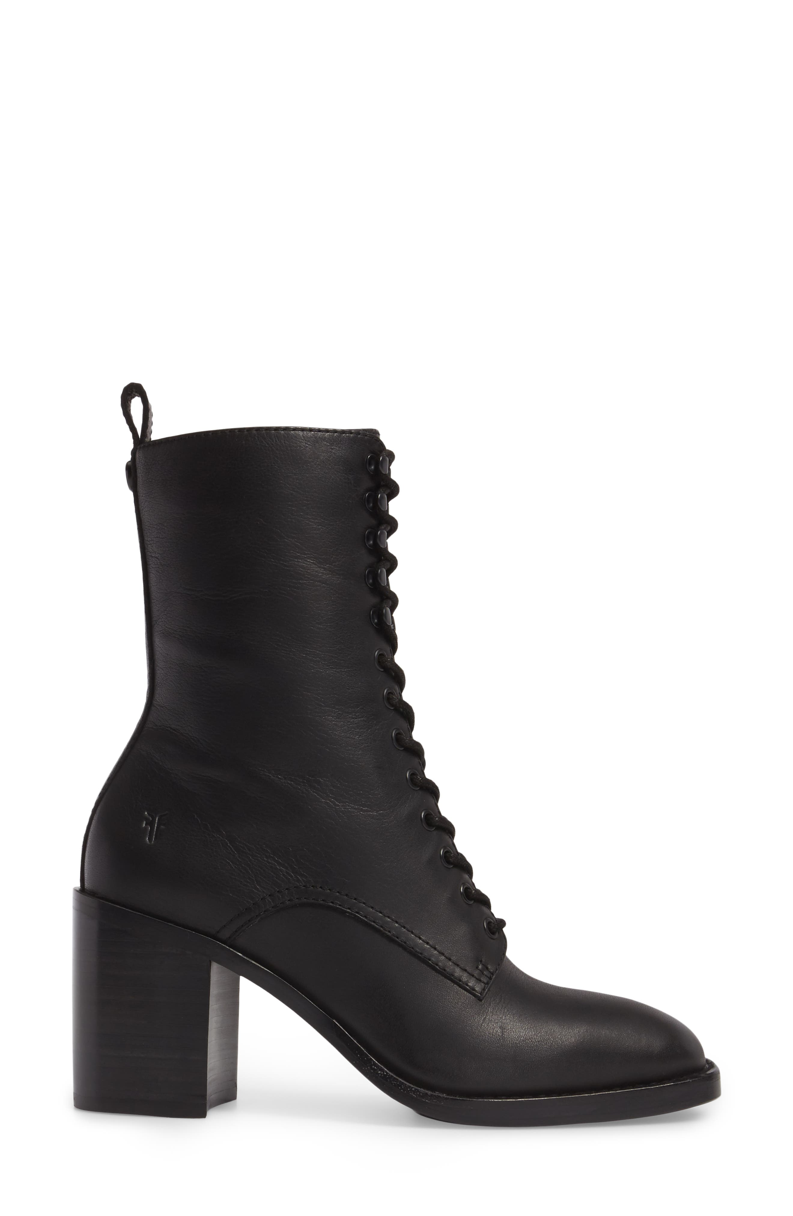 Pia Combat Boot,                             Alternate thumbnail 3, color,                             001