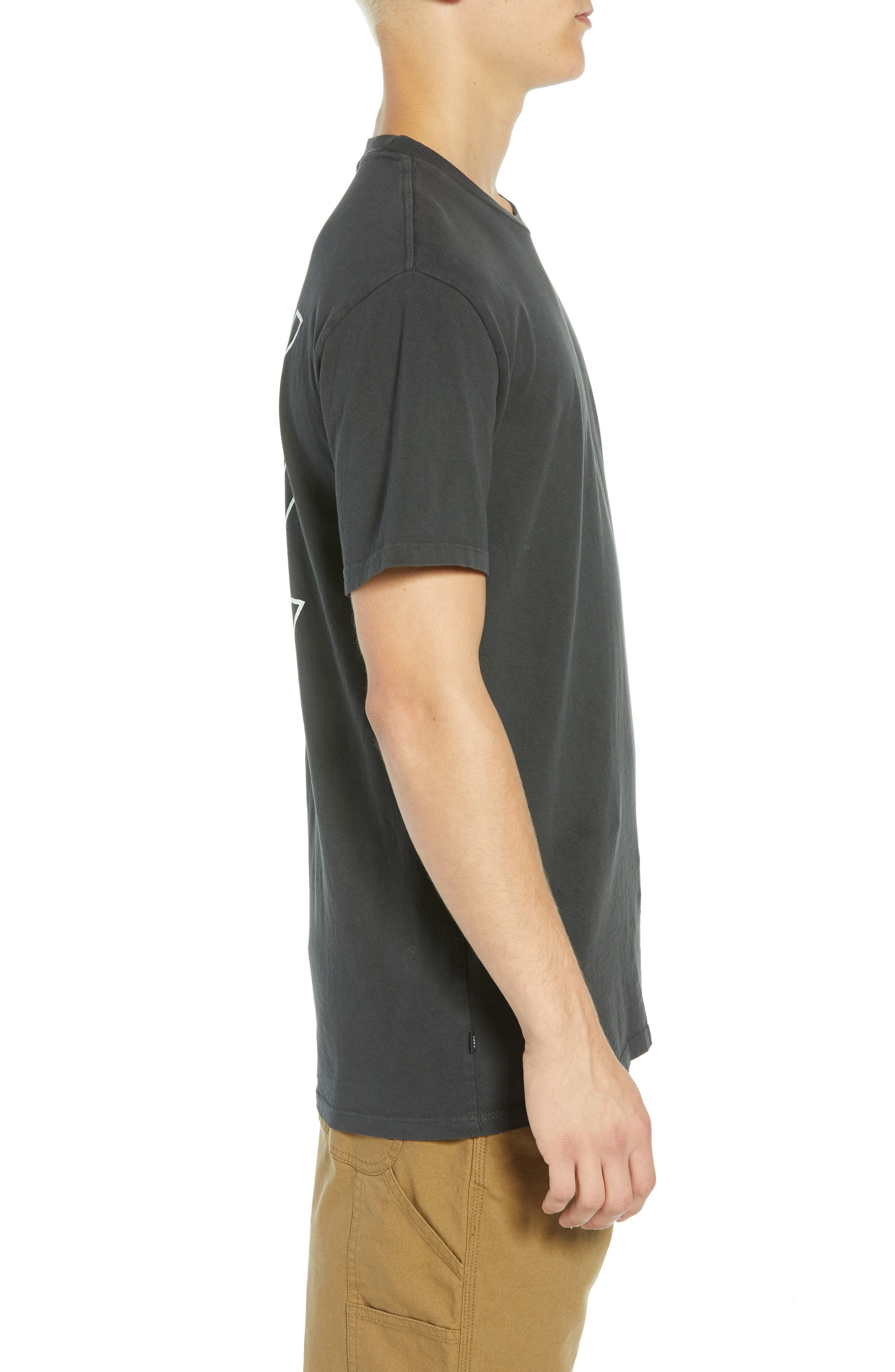 Jumble Lo-Fi Pigment T-Shirt,                             Alternate thumbnail 3, color,                             DUSTY BLACK