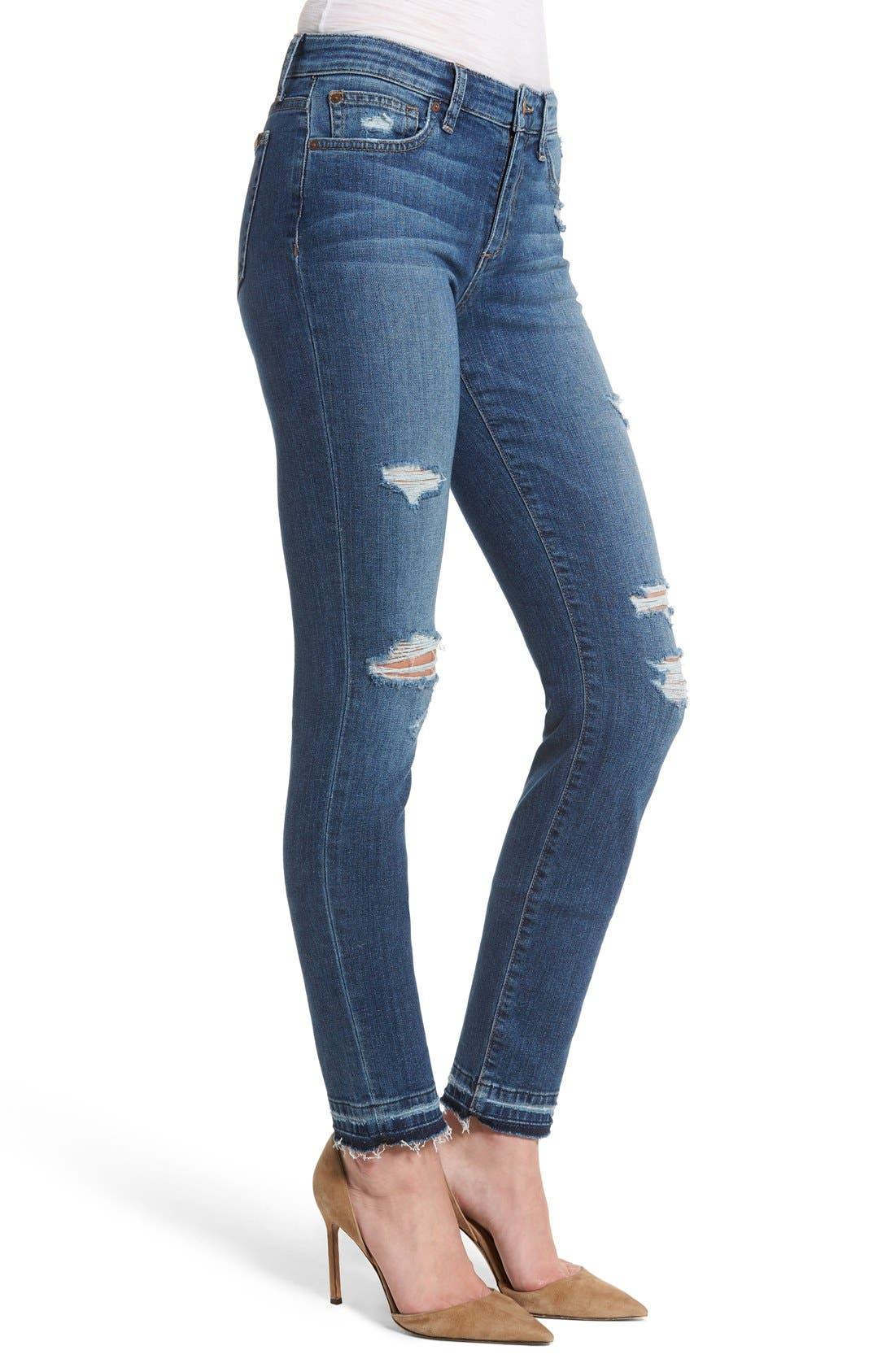 Cigarette Skinny Jeans,                             Alternate thumbnail 3, color,                             410