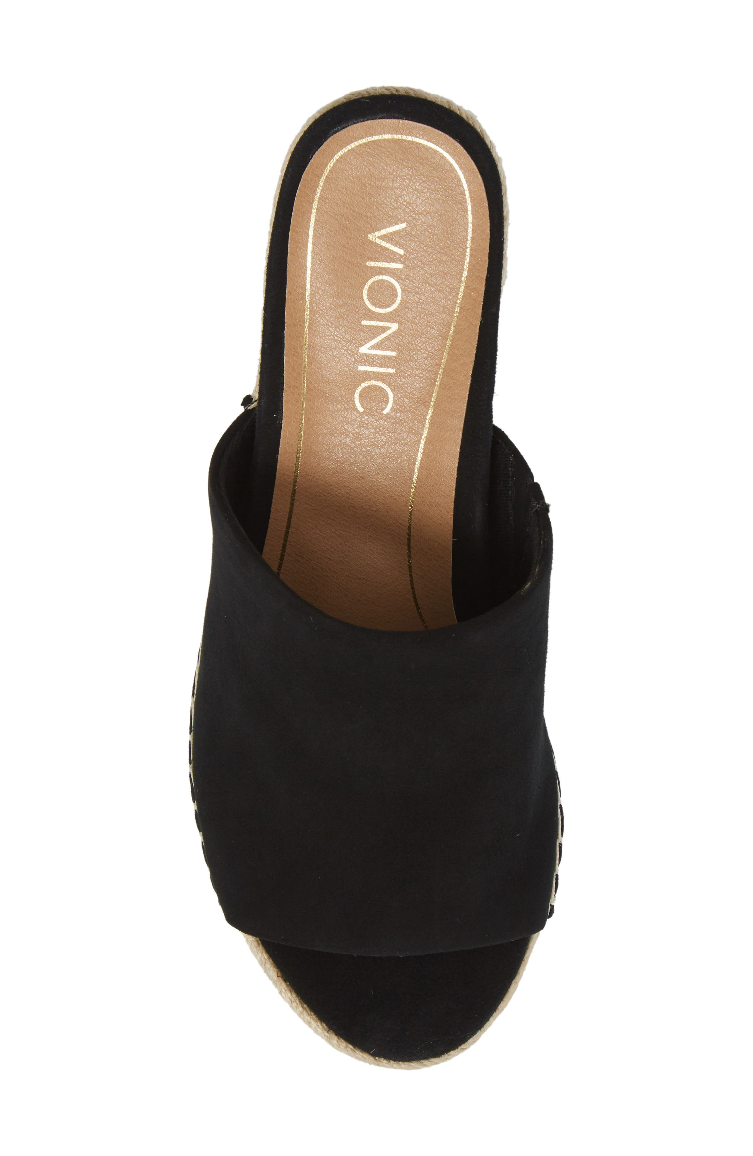 Kadyn Espadrille Wedge Sandal,                             Alternate thumbnail 5, color,                             BLACK SUEDE