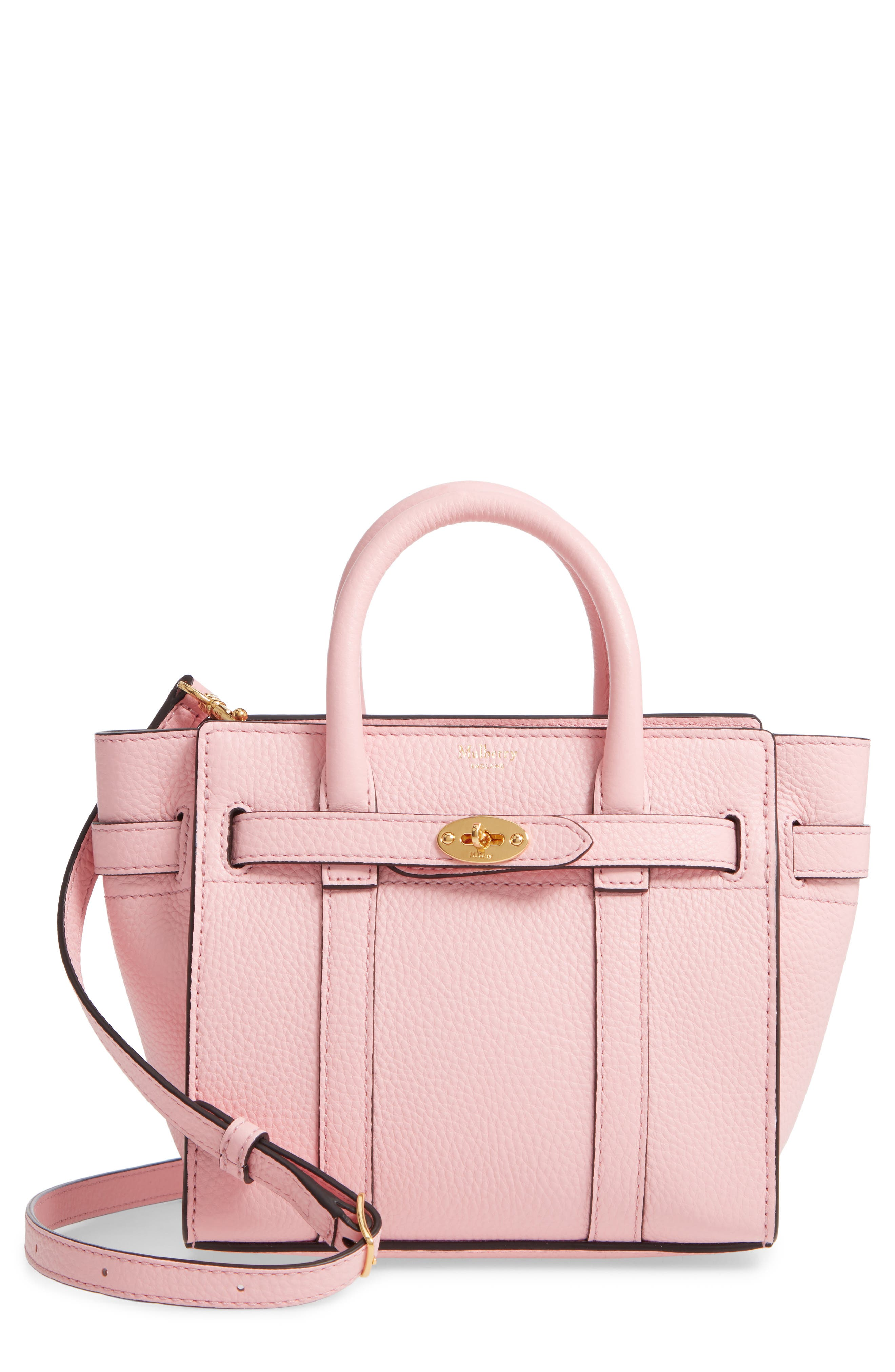 MULBERRY Micro Bayswater Leather Satchel - Pink in Sorbet Pink