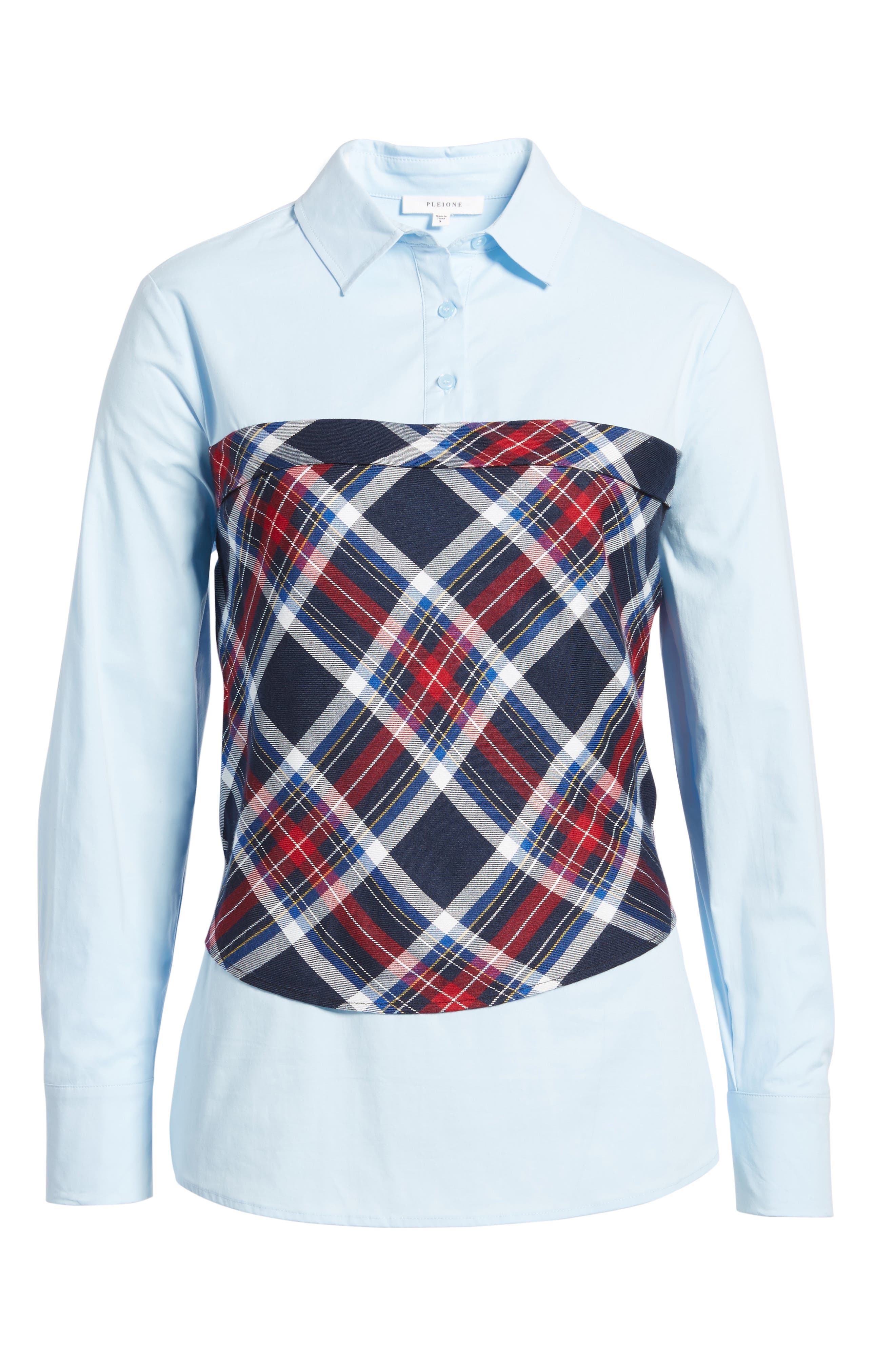 Plaid Corset Shirt,                             Alternate thumbnail 17, color,