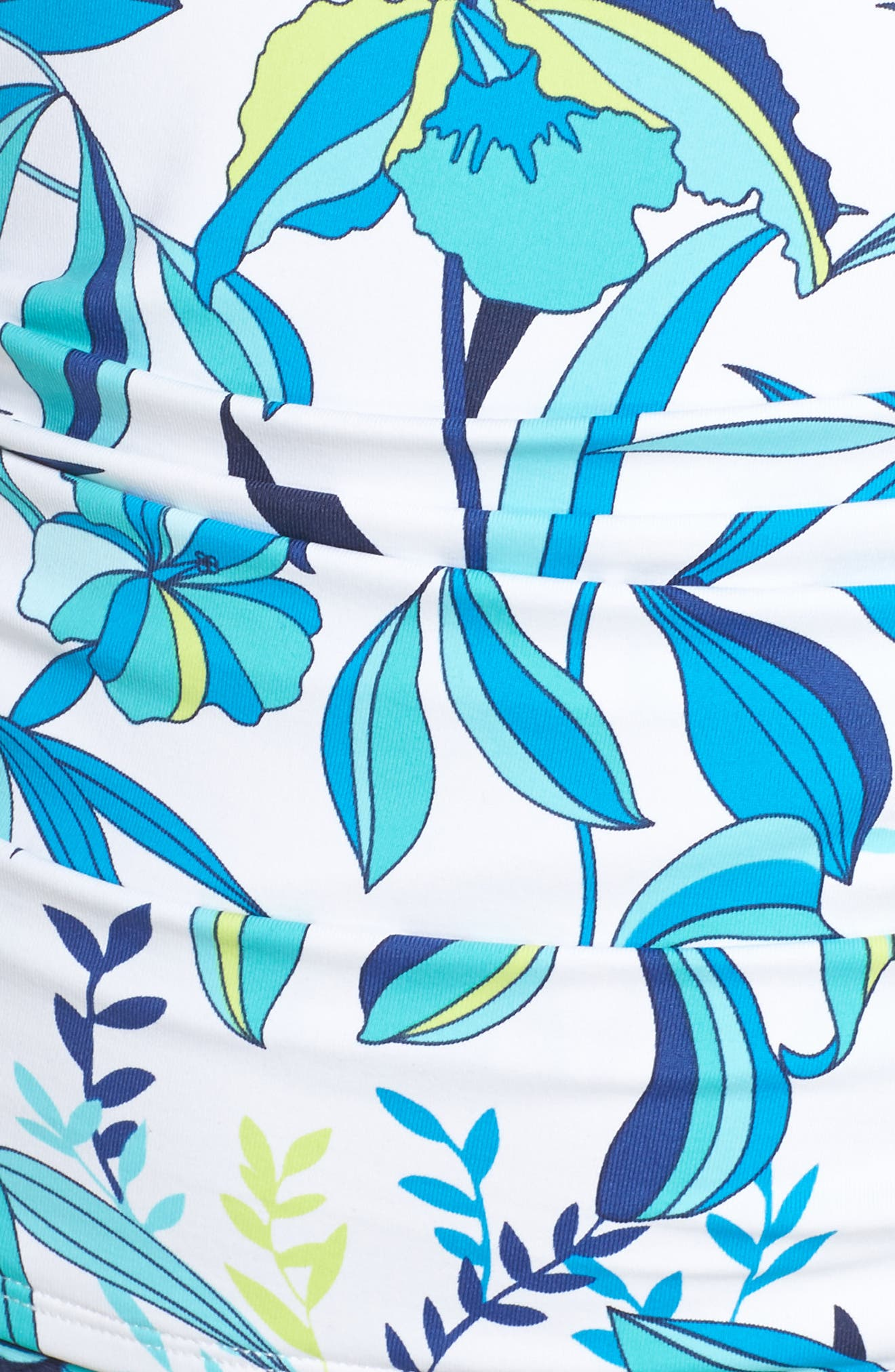 Tropical Swirl Tankini Top,                             Alternate thumbnail 6, color,                             BLUE/ WHITE