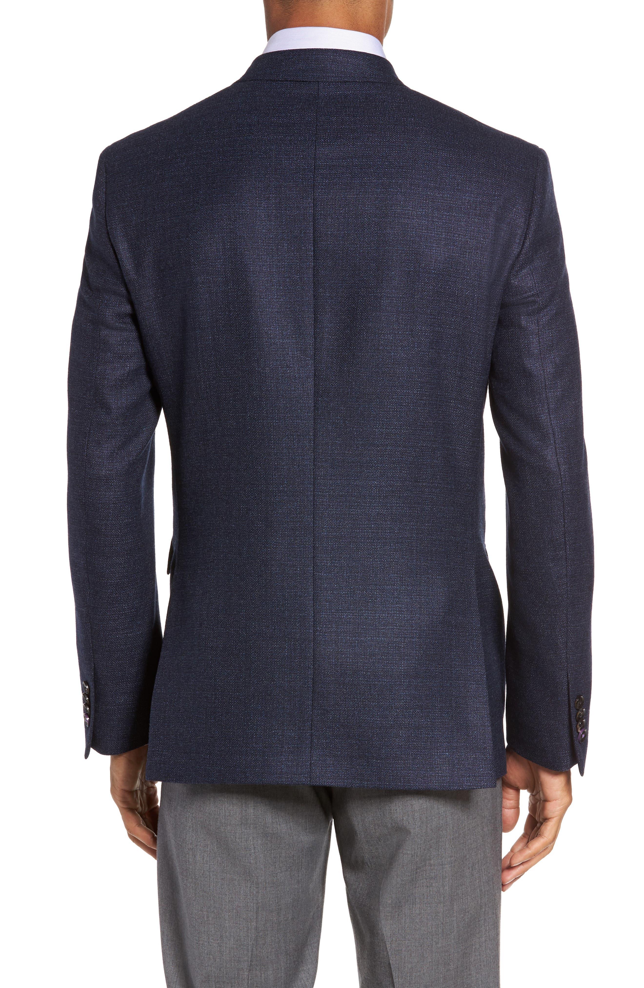 Trim Fit Wool Blazer,                             Alternate thumbnail 2, color,                             400