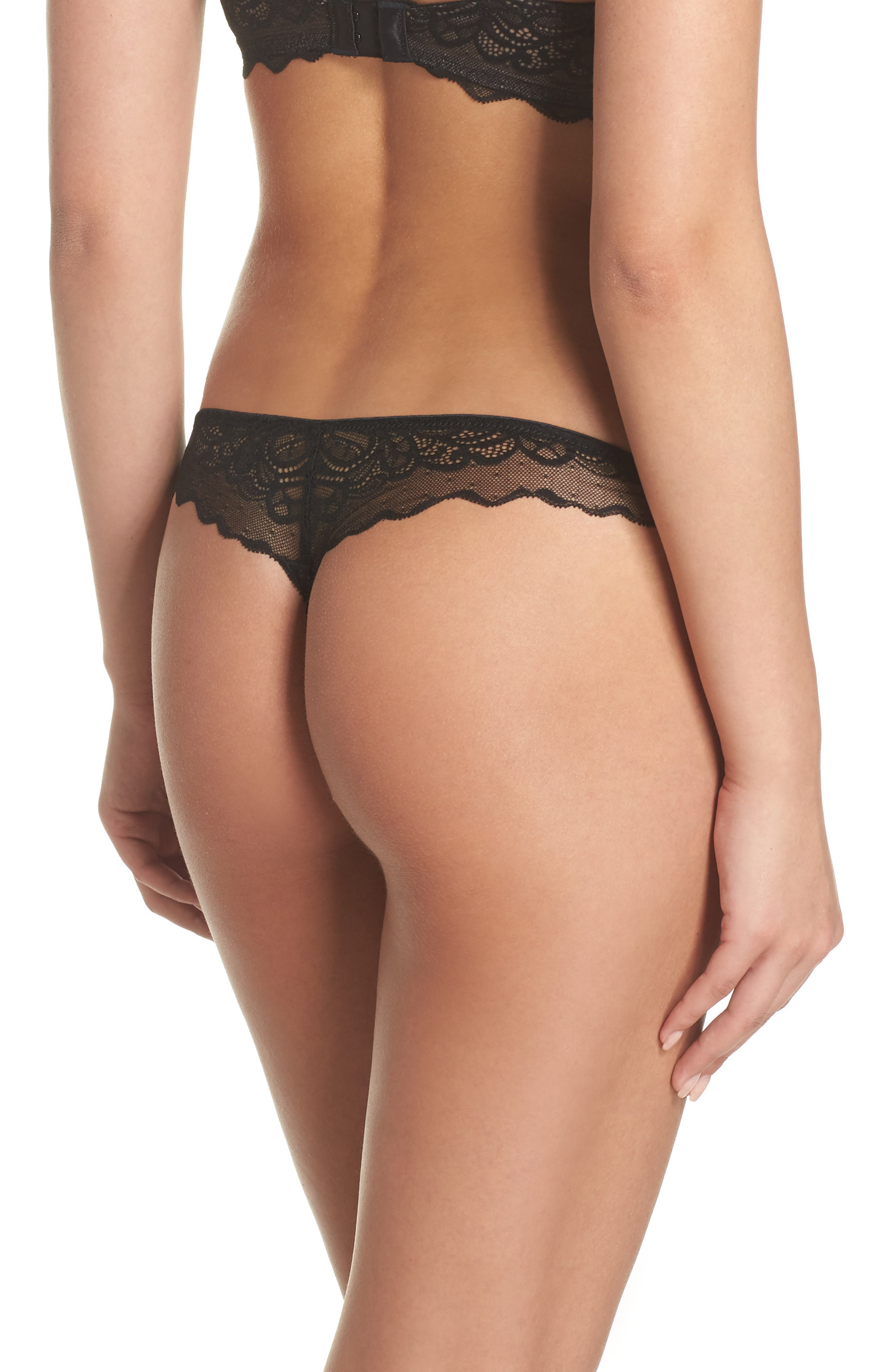 Lace Thong,                             Alternate thumbnail 2, color,                             004