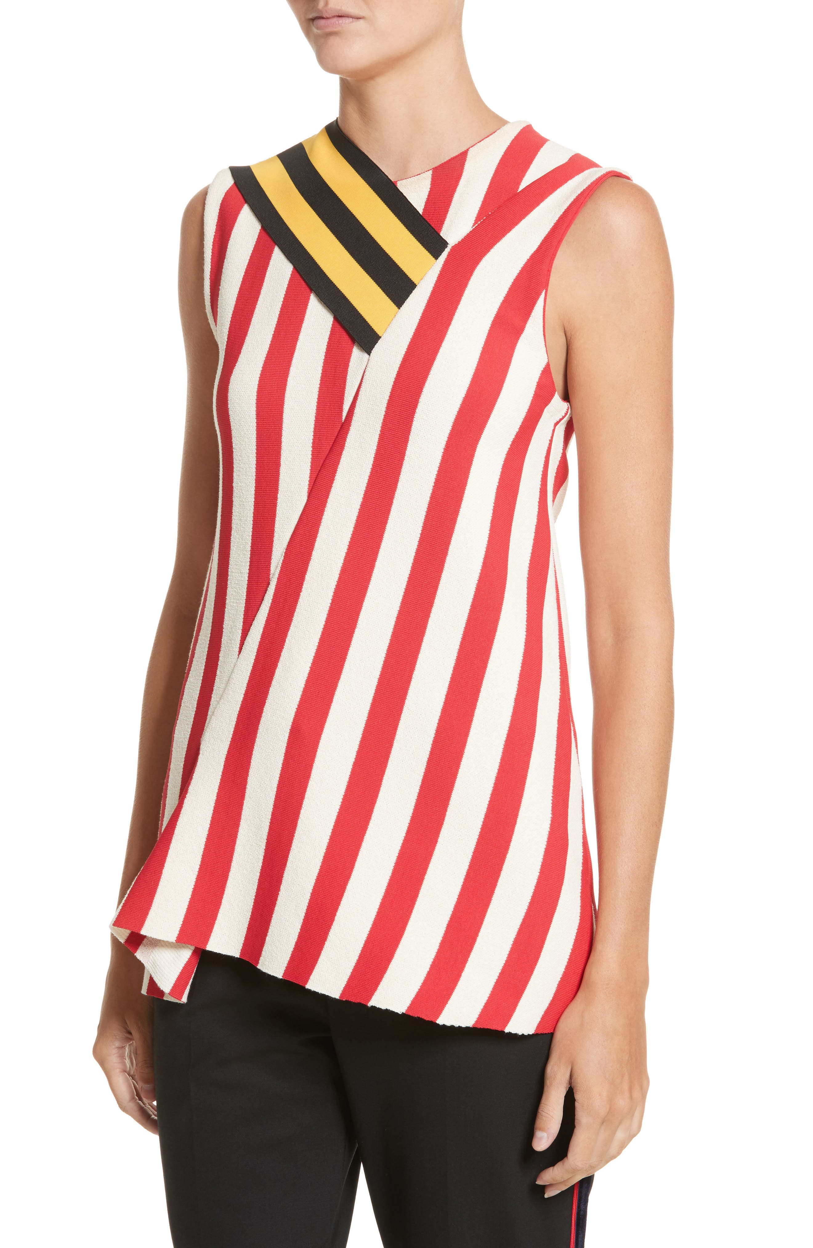 Stripe Top,                             Alternate thumbnail 4, color,                             600