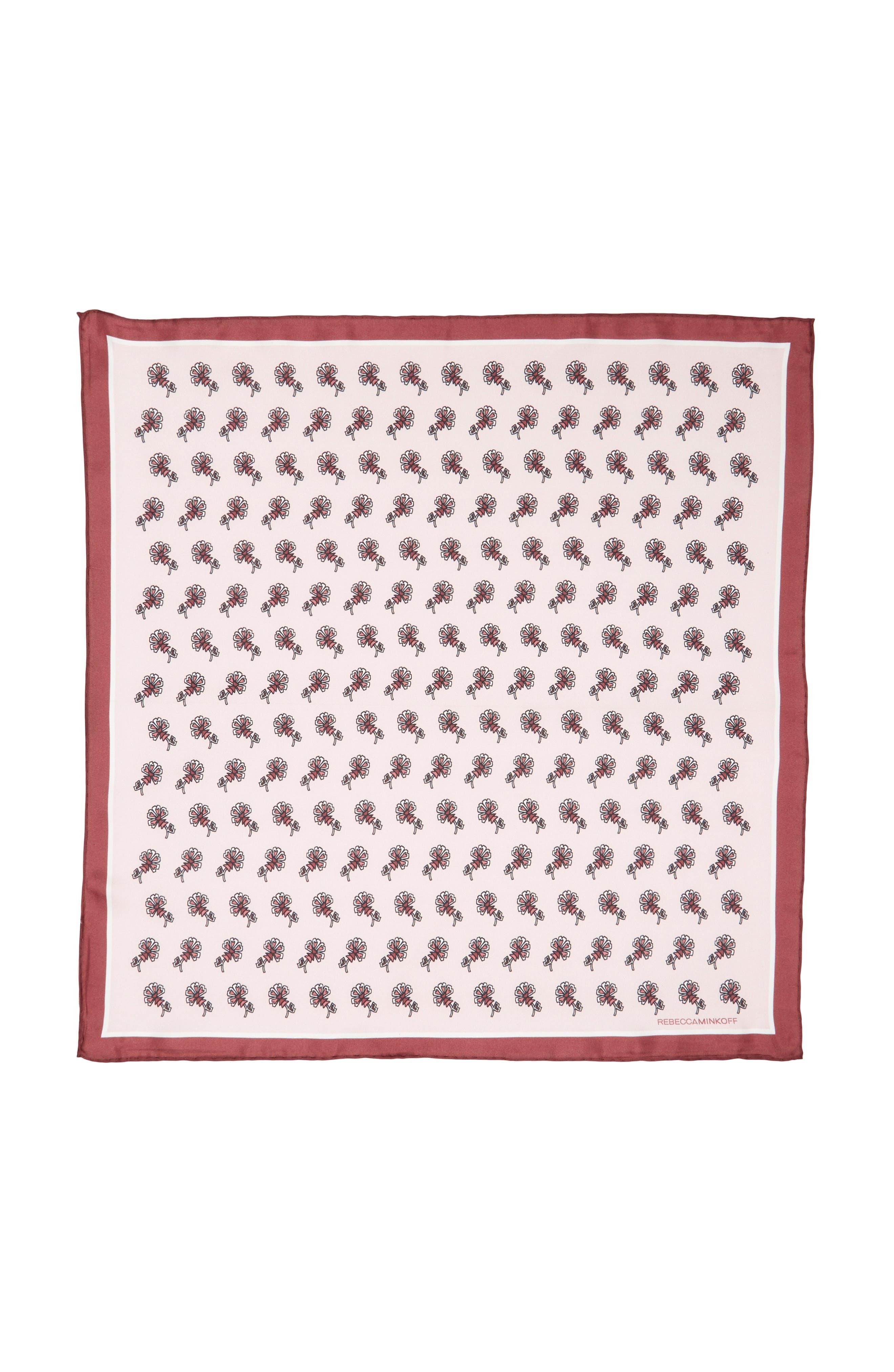 Tiled Rosette Silk Bandana,                             Alternate thumbnail 2, color,                             600
