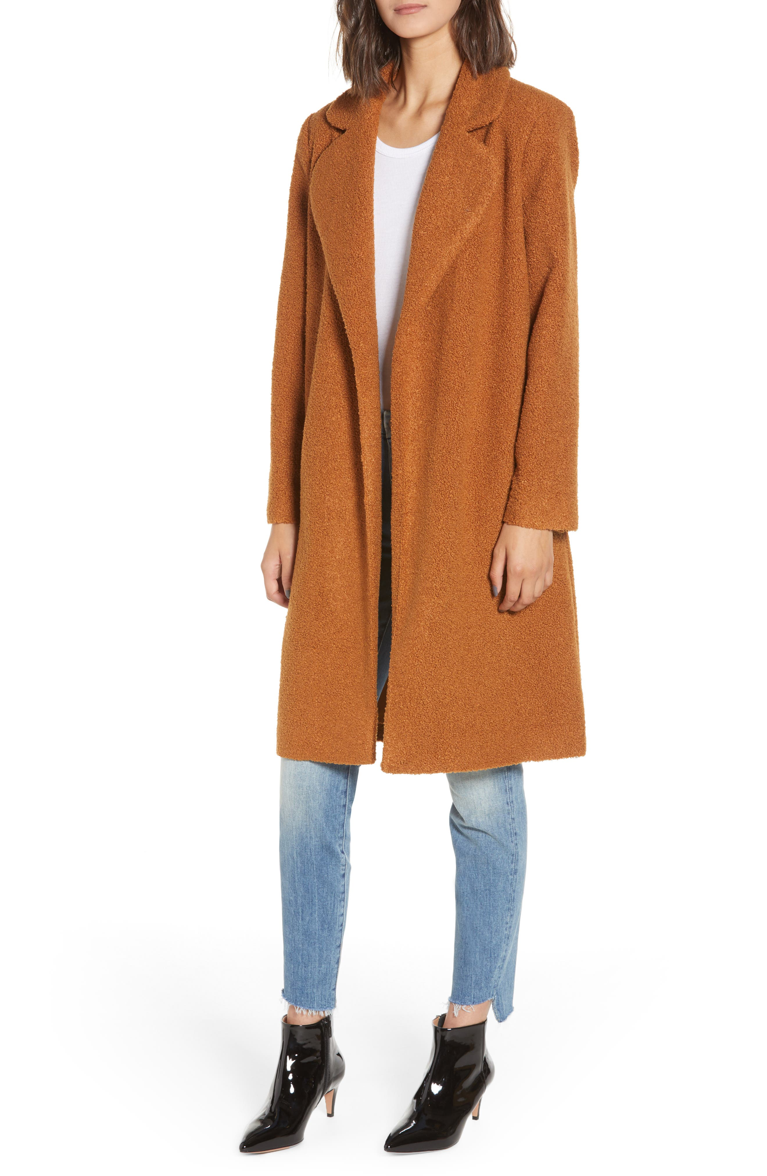 Teddy Bear Coat,                             Main thumbnail 1, color,                             MOCHA