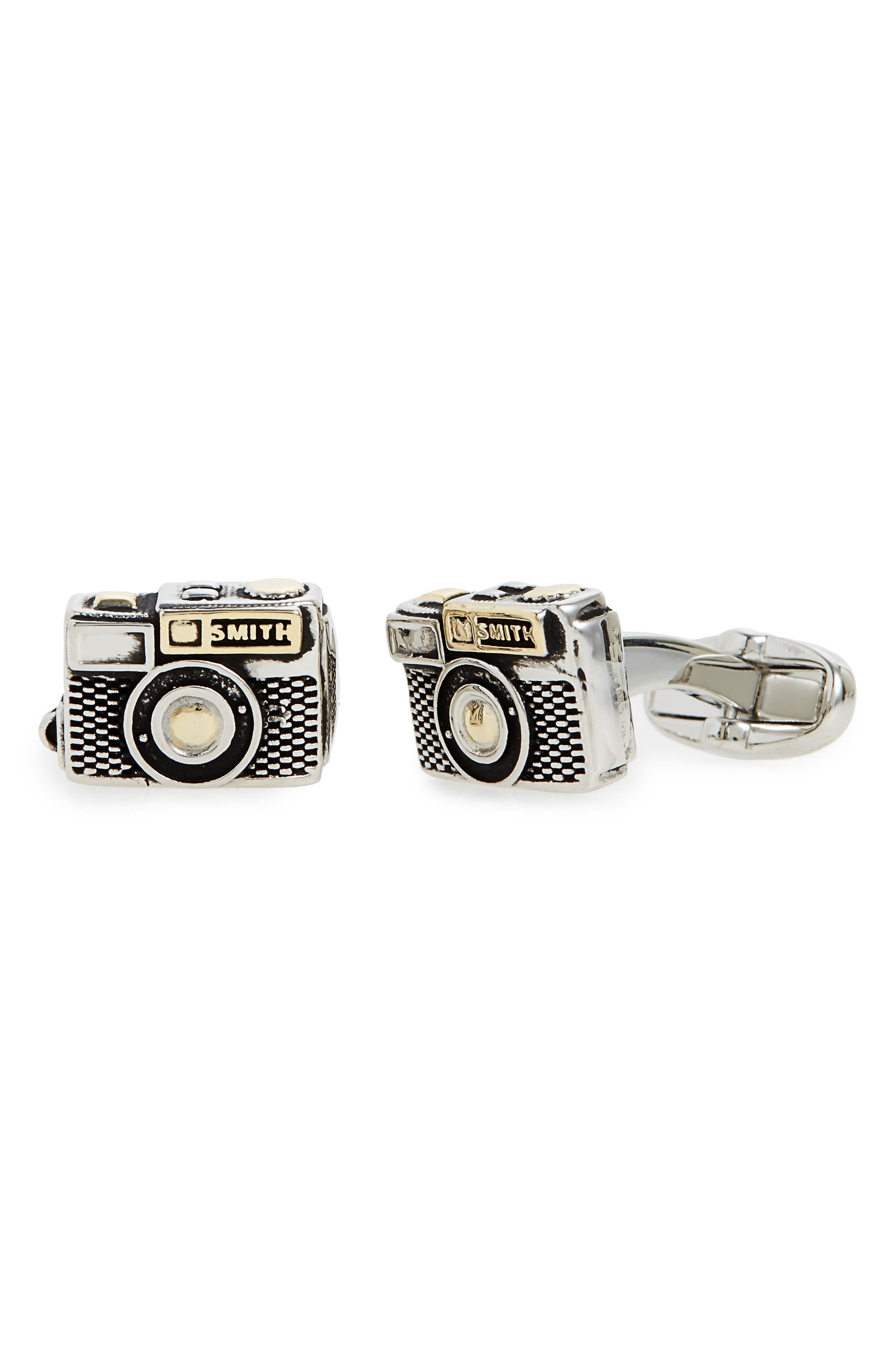 Camera Cuff Links,                             Main thumbnail 1, color,                             040