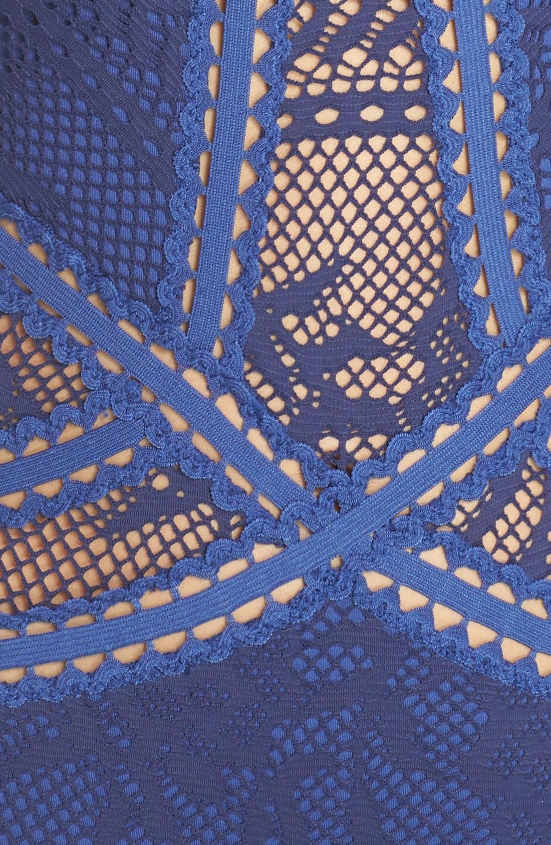 Prairie Rose Crochet One-Piece Swimsuit,                             Alternate thumbnail 13, color,