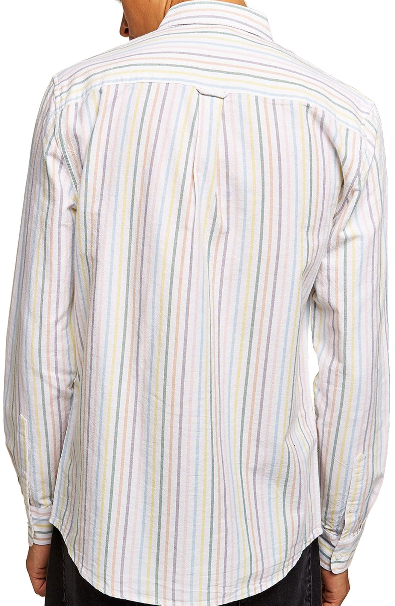 Classic Stripe Shirt,                             Alternate thumbnail 3, color,                             WHITE MULTI