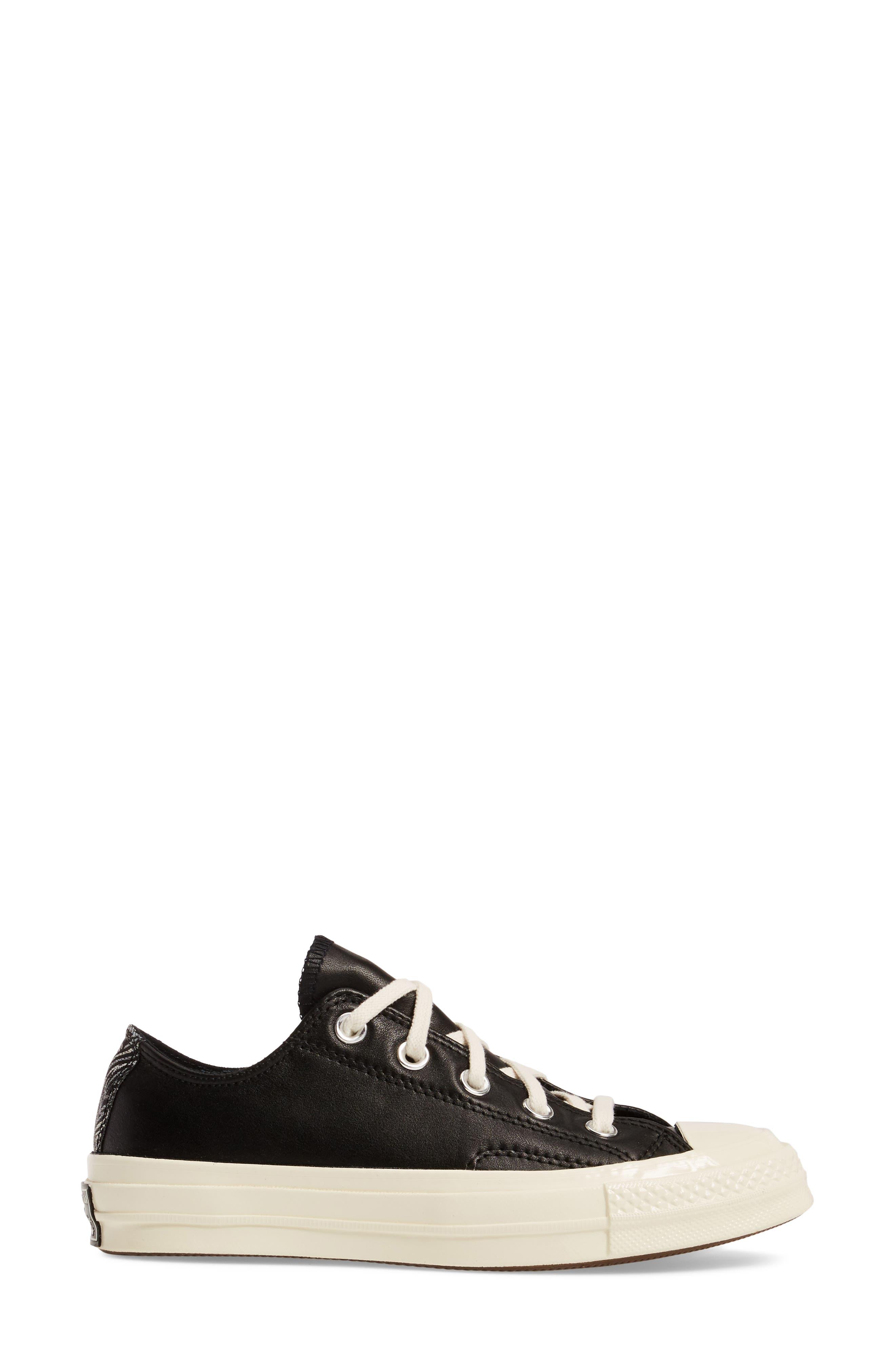 Chuck Taylor<sup>®</sup> All Star<sup>®</sup> Ox Genuine Calf Hair Sneaker,                             Alternate thumbnail 3, color,                             001