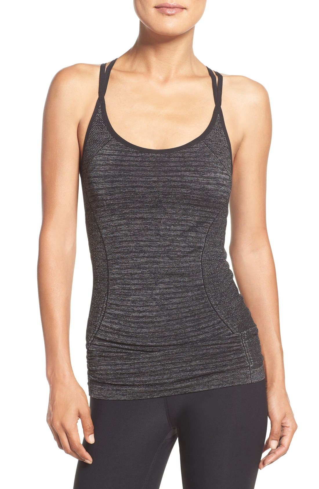 'Stabilize' Seamless Racerback Camisole,                             Main thumbnail 1, color,                             001