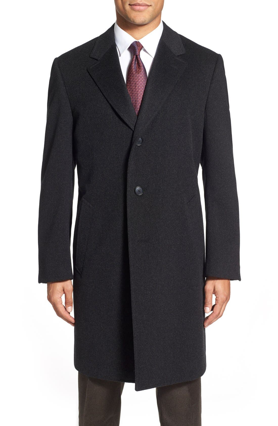 Classic Fit Wool & Cashmere Topcoat,                             Main thumbnail 1, color,                             020