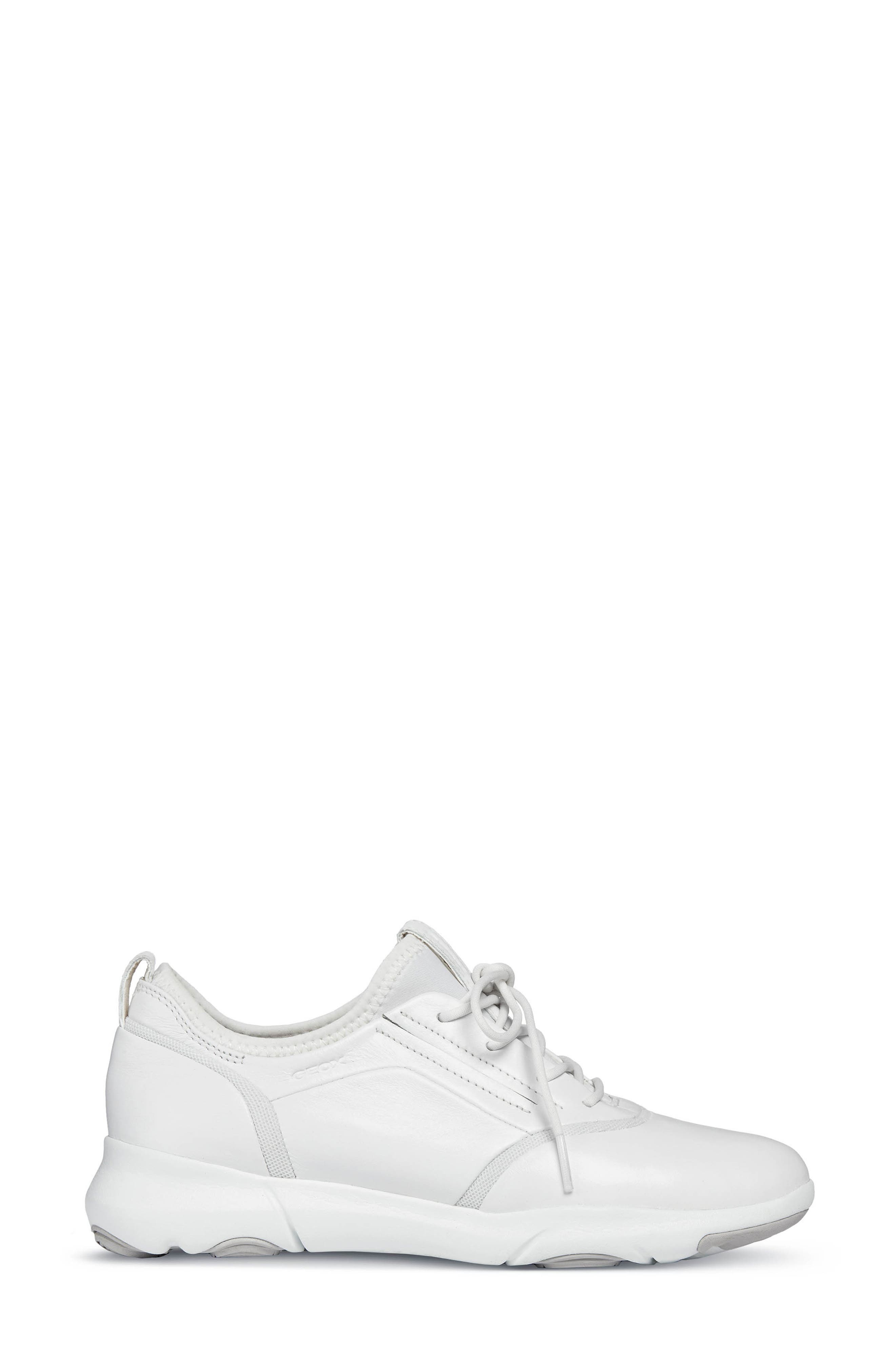 Nebula S 2 Low Top Sneaker,                             Alternate thumbnail 3, color,                             WHITE LEATHER