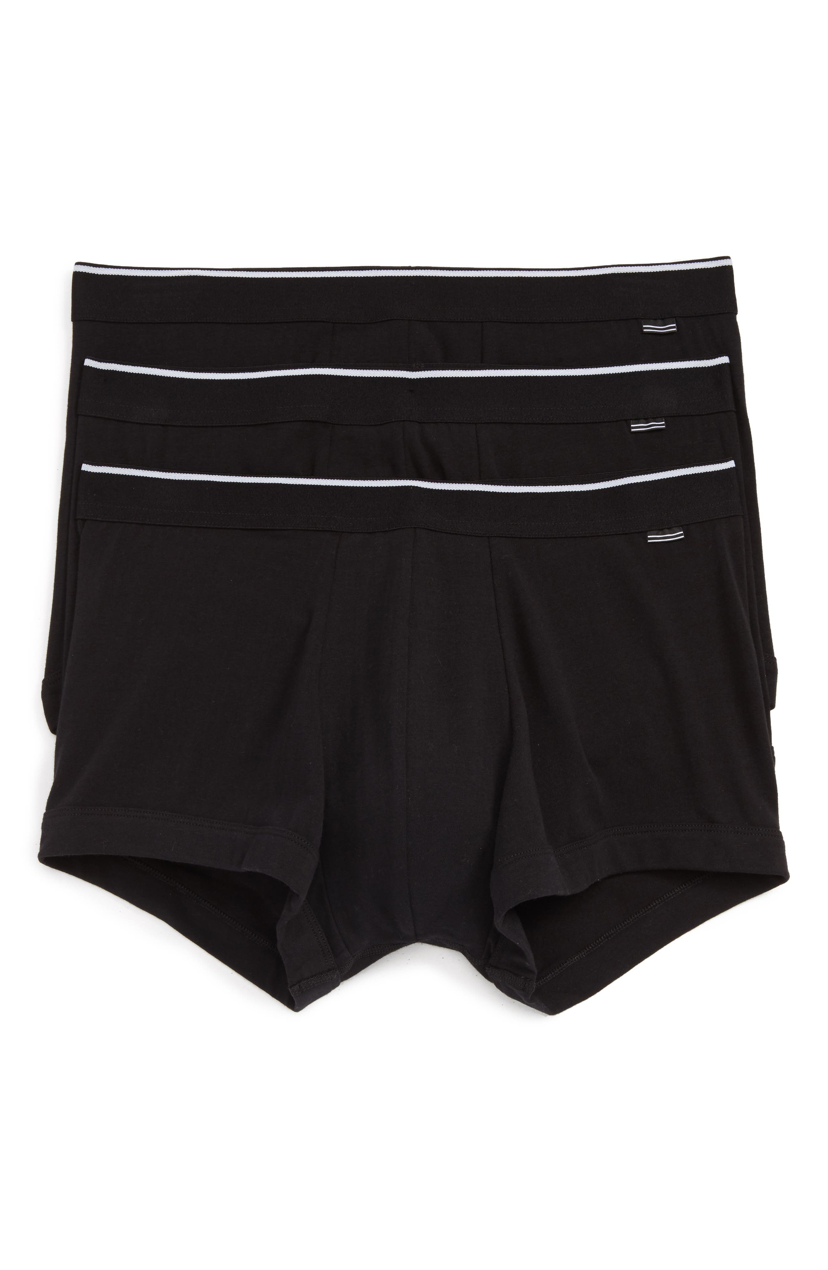 3-Pack Stretch Cotton Trunks,                             Main thumbnail 1, color,                             001