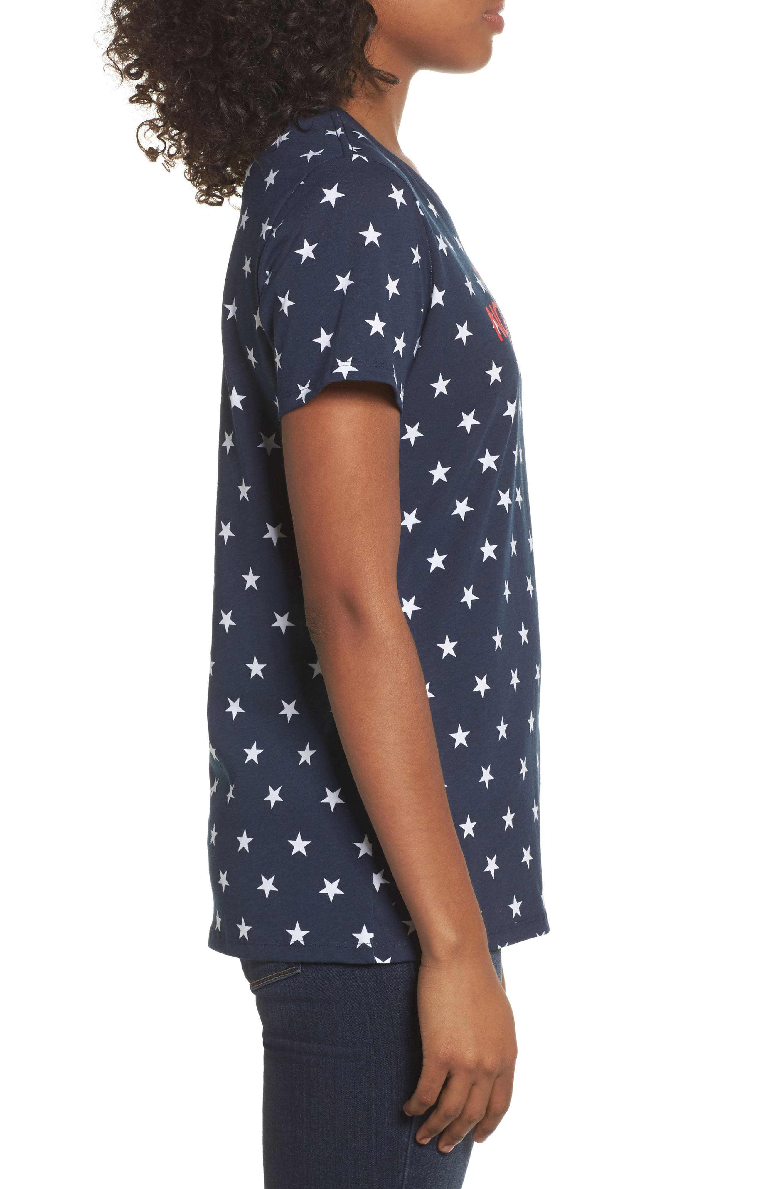 International Collection Tee,                             Alternate thumbnail 3, color,                             COSMIC BLUE STAR PRINT