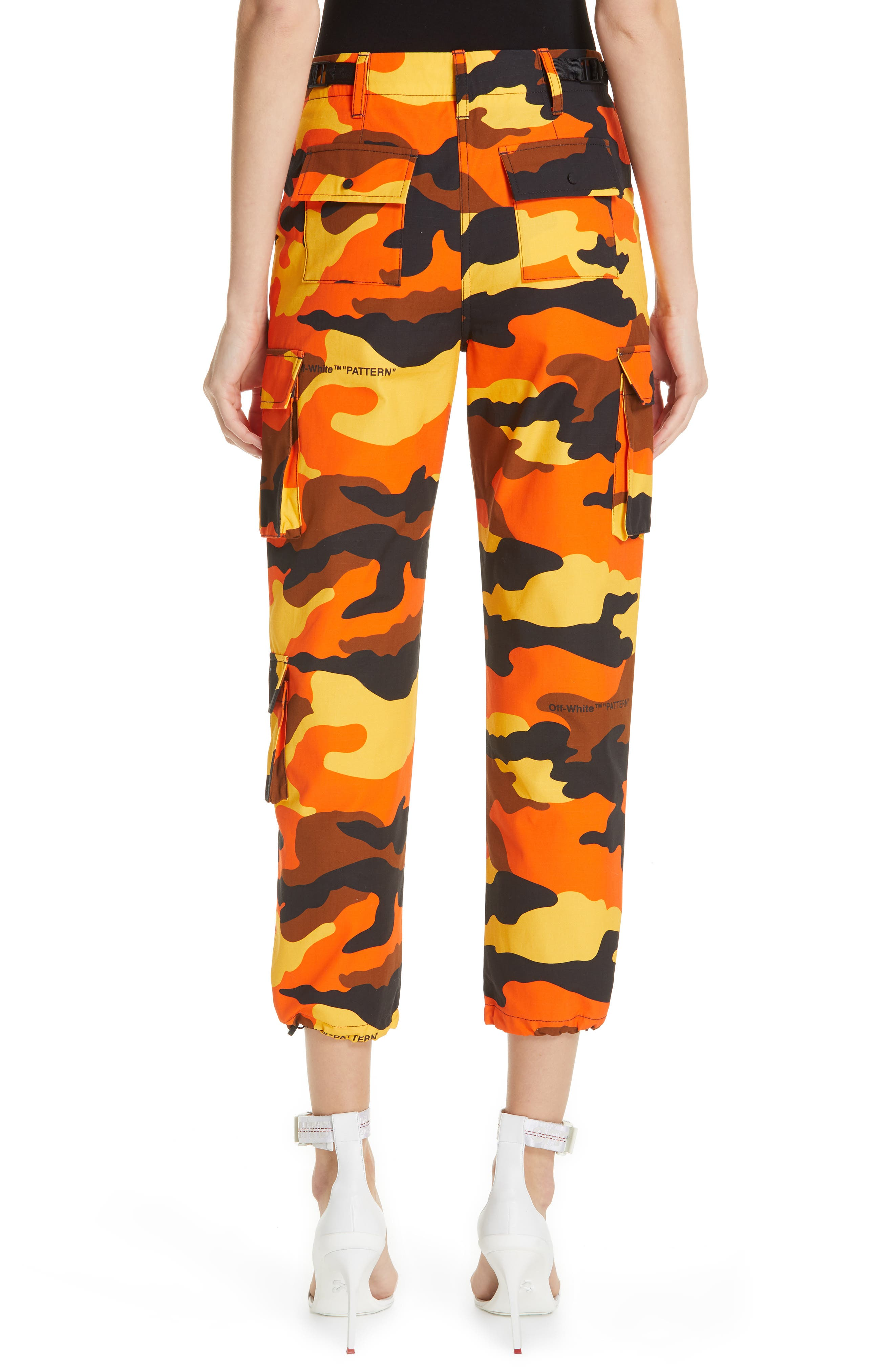 OFF-WHITE,                             Camo Cargo Pants,                             Alternate thumbnail 2, color,                             ALL OVER