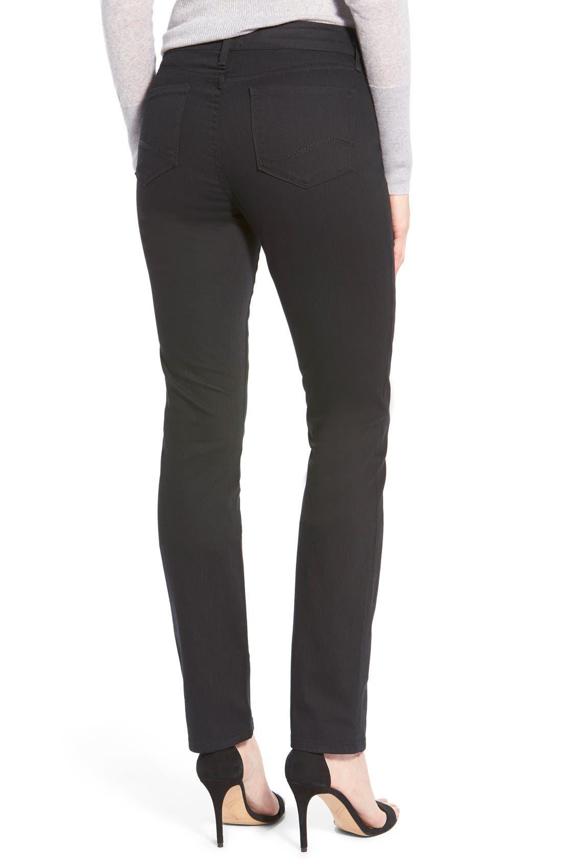 'Samantha' Stretch Slim Straight Leg Jeans,                             Alternate thumbnail 3, color,                             001