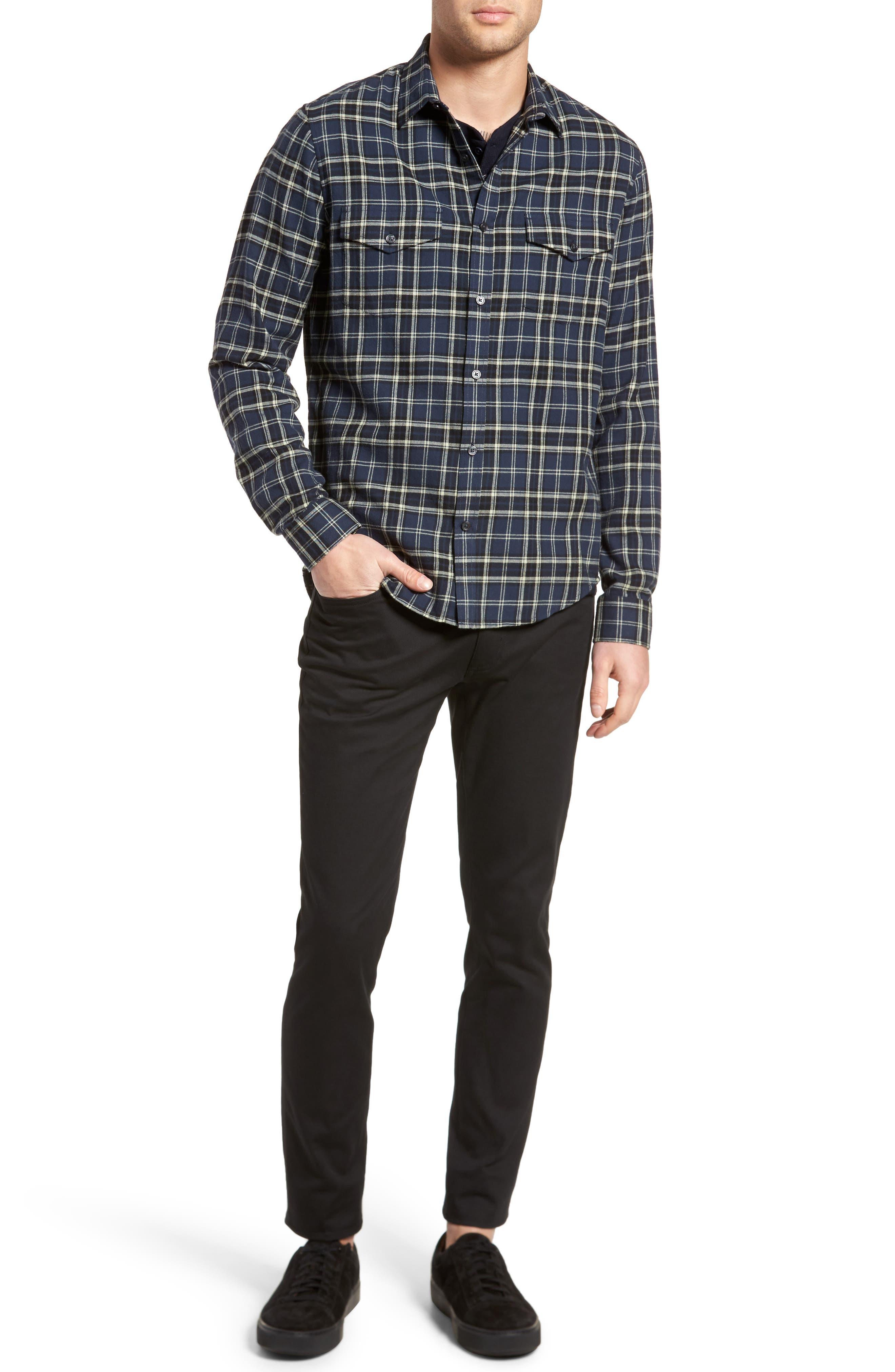 Thermal Knit Long Sleeve Henley T-Shirt,                             Alternate thumbnail 14, color,