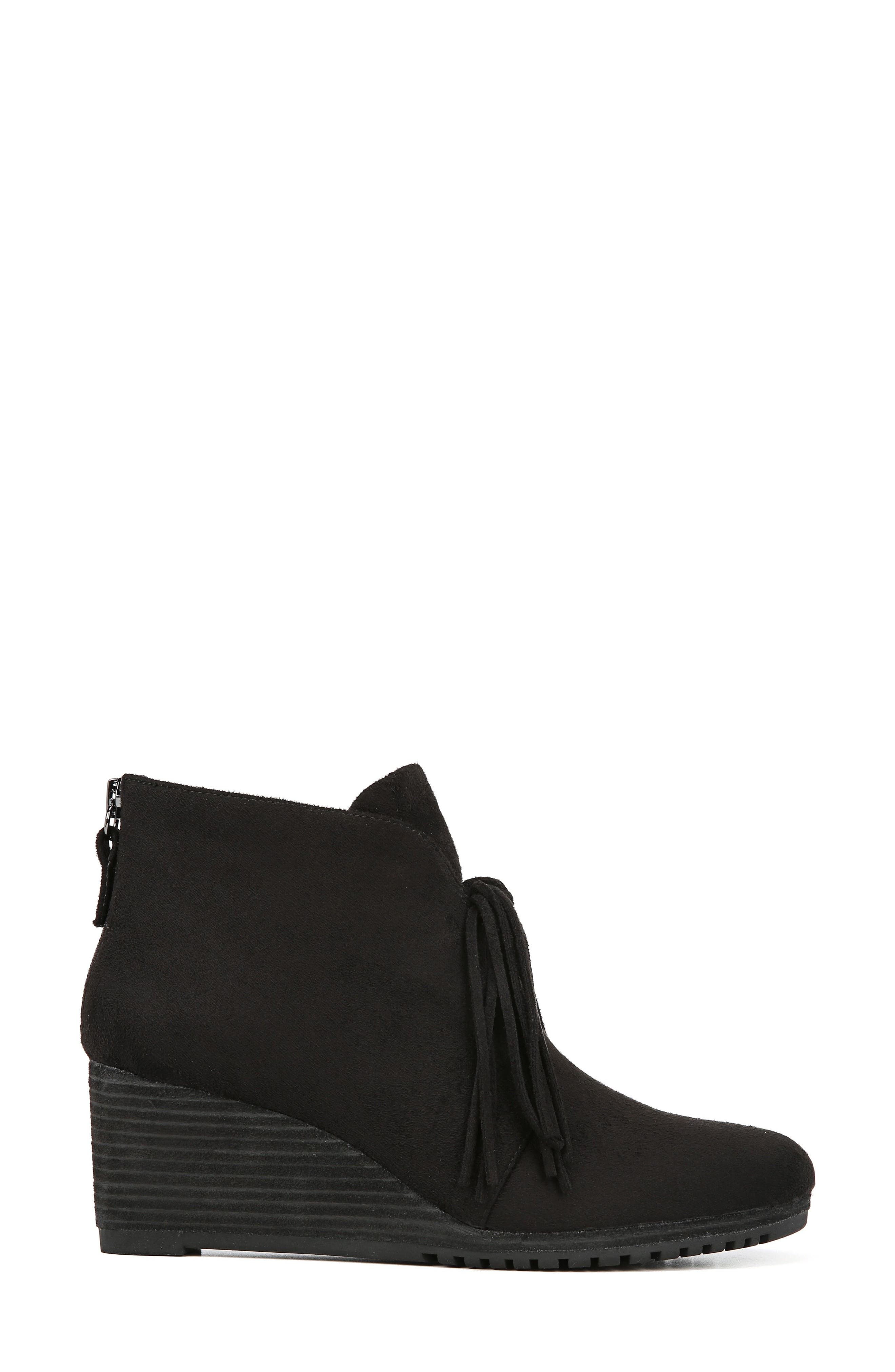 Classify Tassel Wedge Bootie,                             Alternate thumbnail 2, color,                             BLACK FABRIC