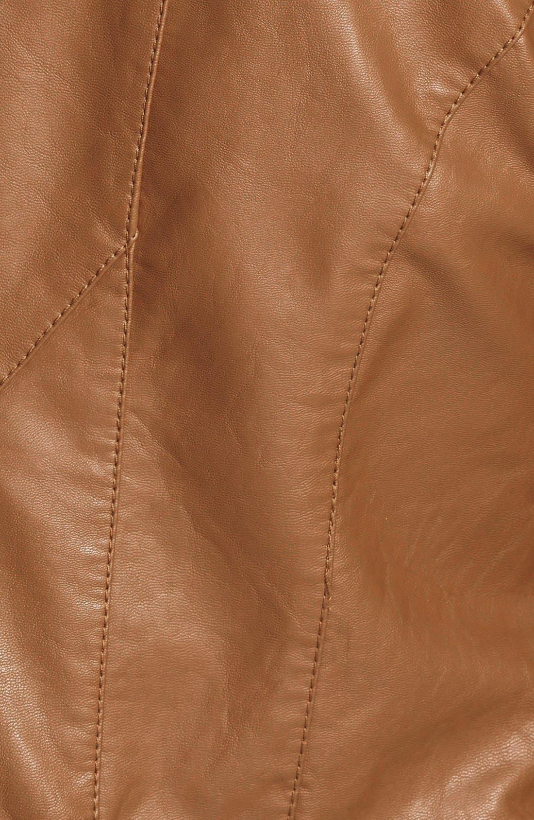 Faux Leather Jacket,                             Alternate thumbnail 42, color,