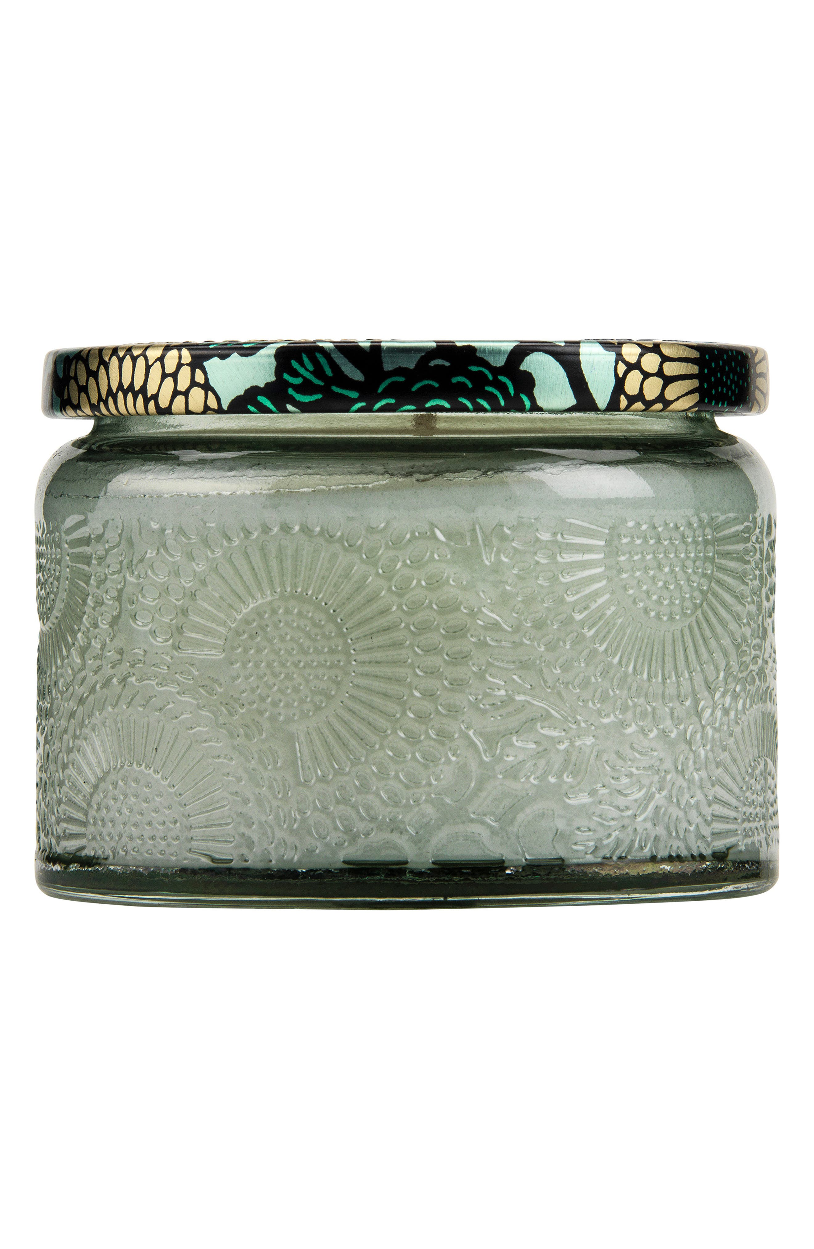 Japonica French Cade Lavender Petite Embossed Glass Jar Candle,                             Alternate thumbnail 3, color,                             NO COLOR