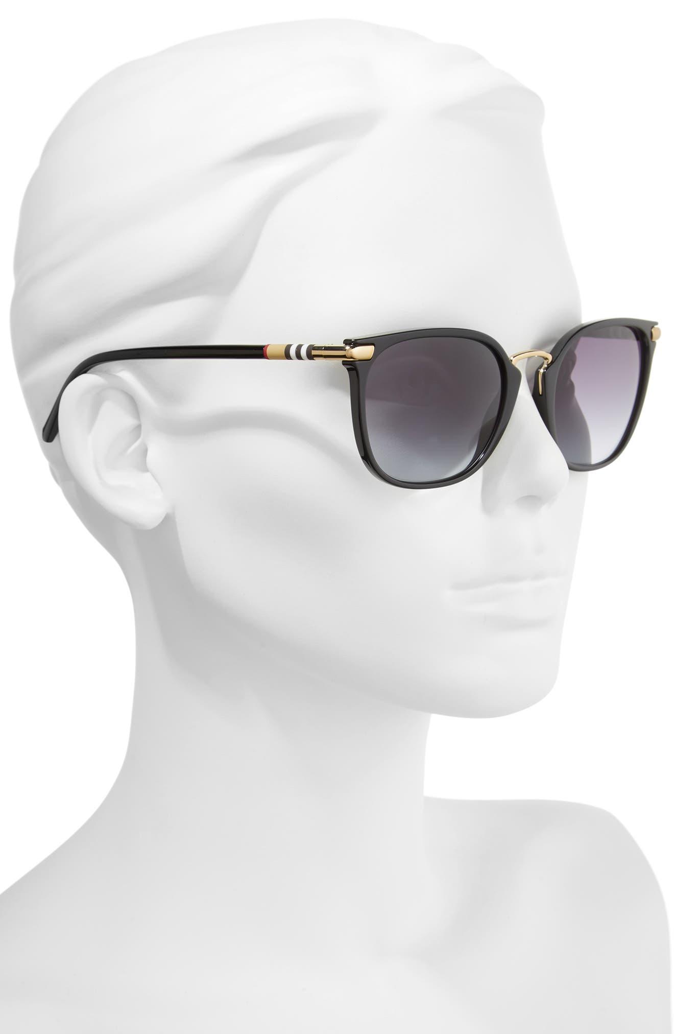 53mm Gradient Square Sunglasses,                             Alternate thumbnail 7, color,