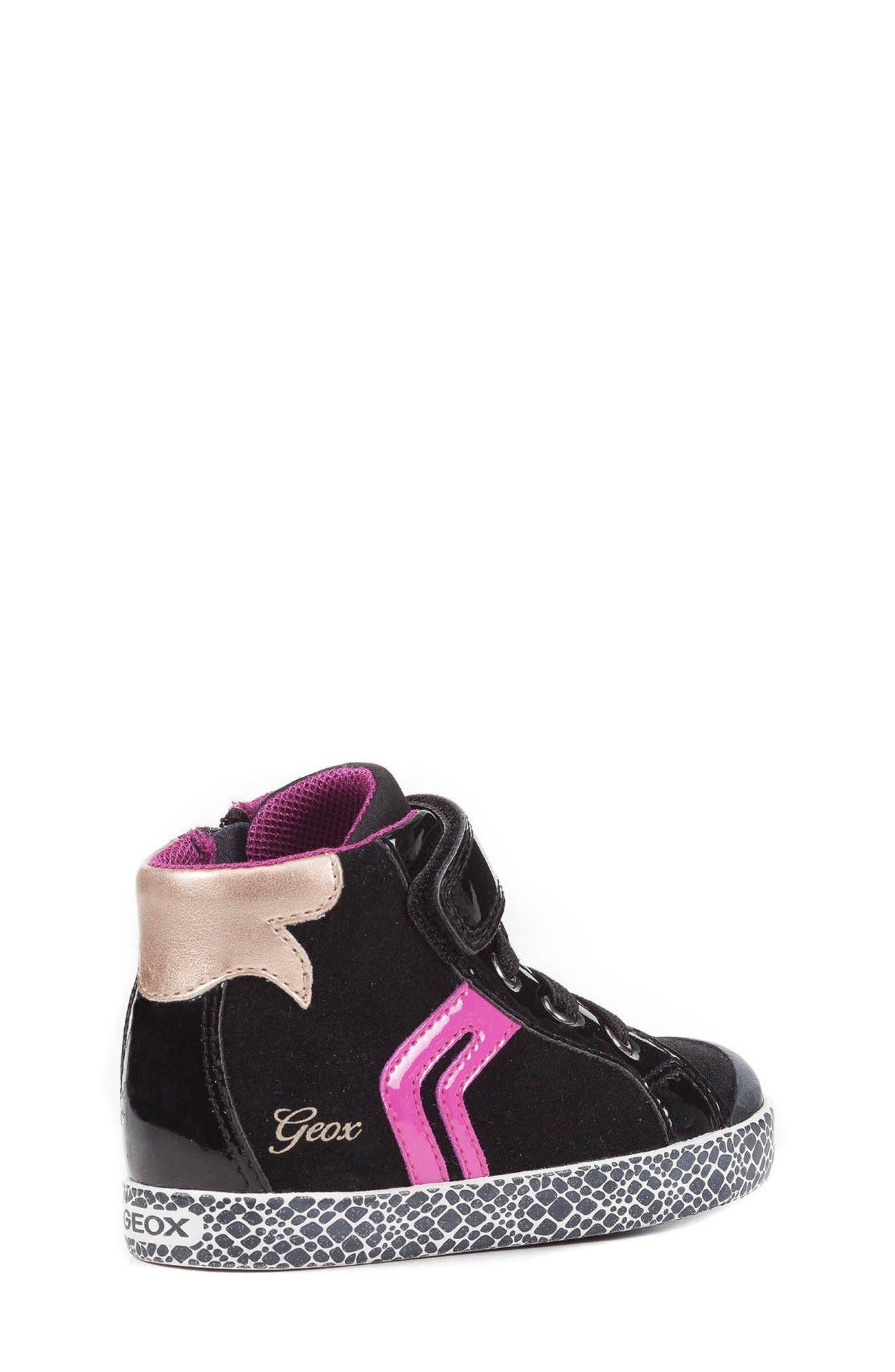 GEOX,                             Kiwi Girl High Top Sneaker,                             Alternate thumbnail 2, color,                             001