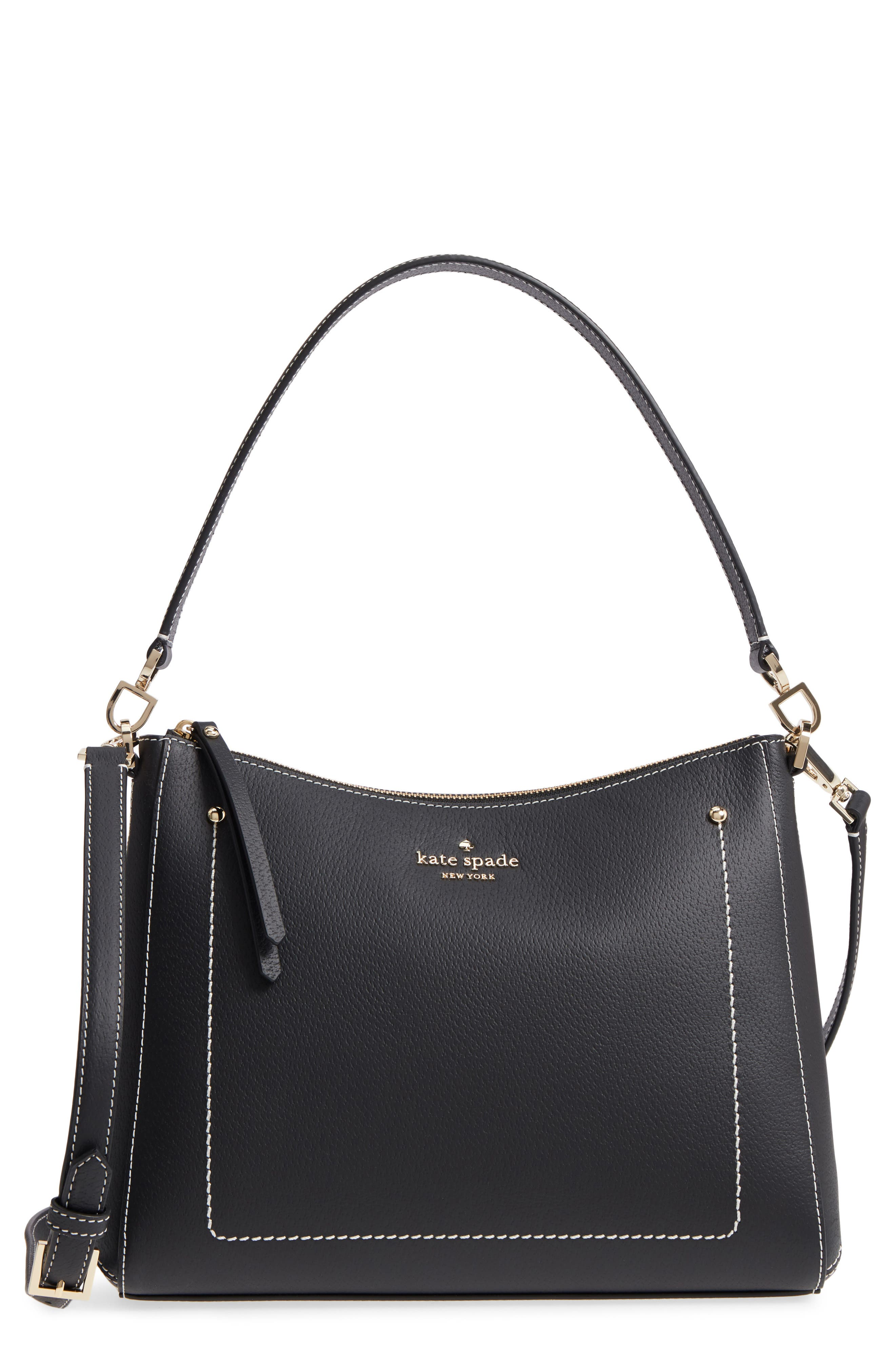 thompson street - marti leather shoulder/crossbody bag,                         Main,                         color, 001
