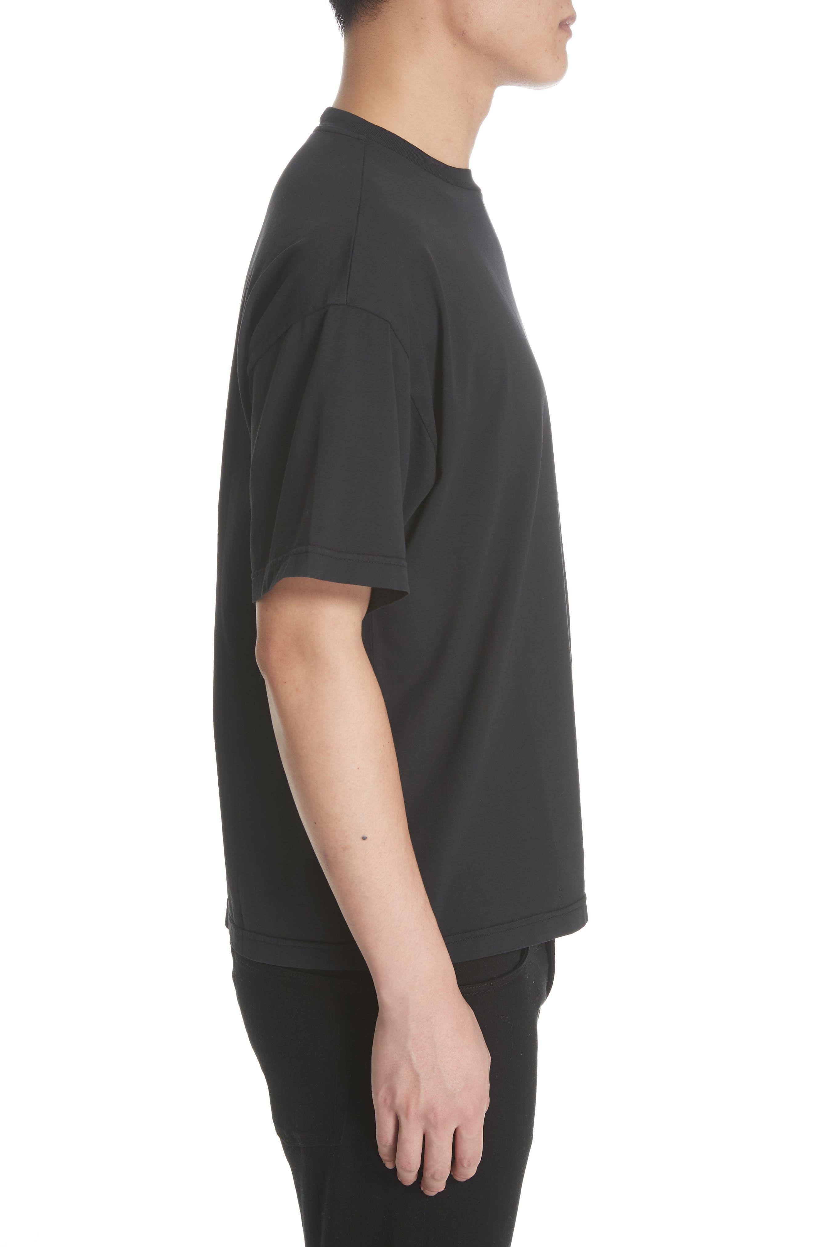 Oversize T-Shirt,                             Alternate thumbnail 3, color,                             BLACK