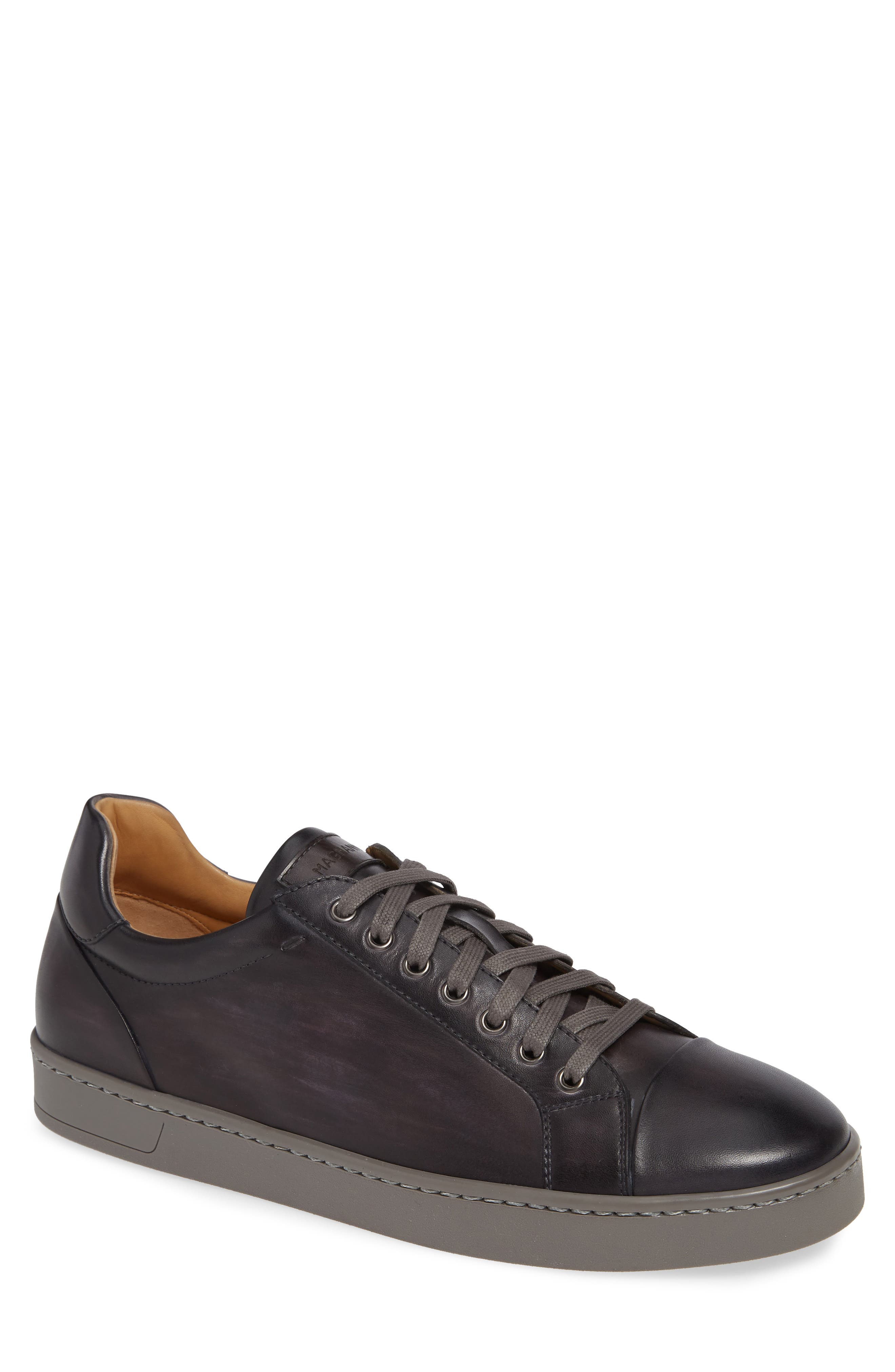 Caitin Sneaker,                         Main,                         color, GREY/ GREY LEATHER
