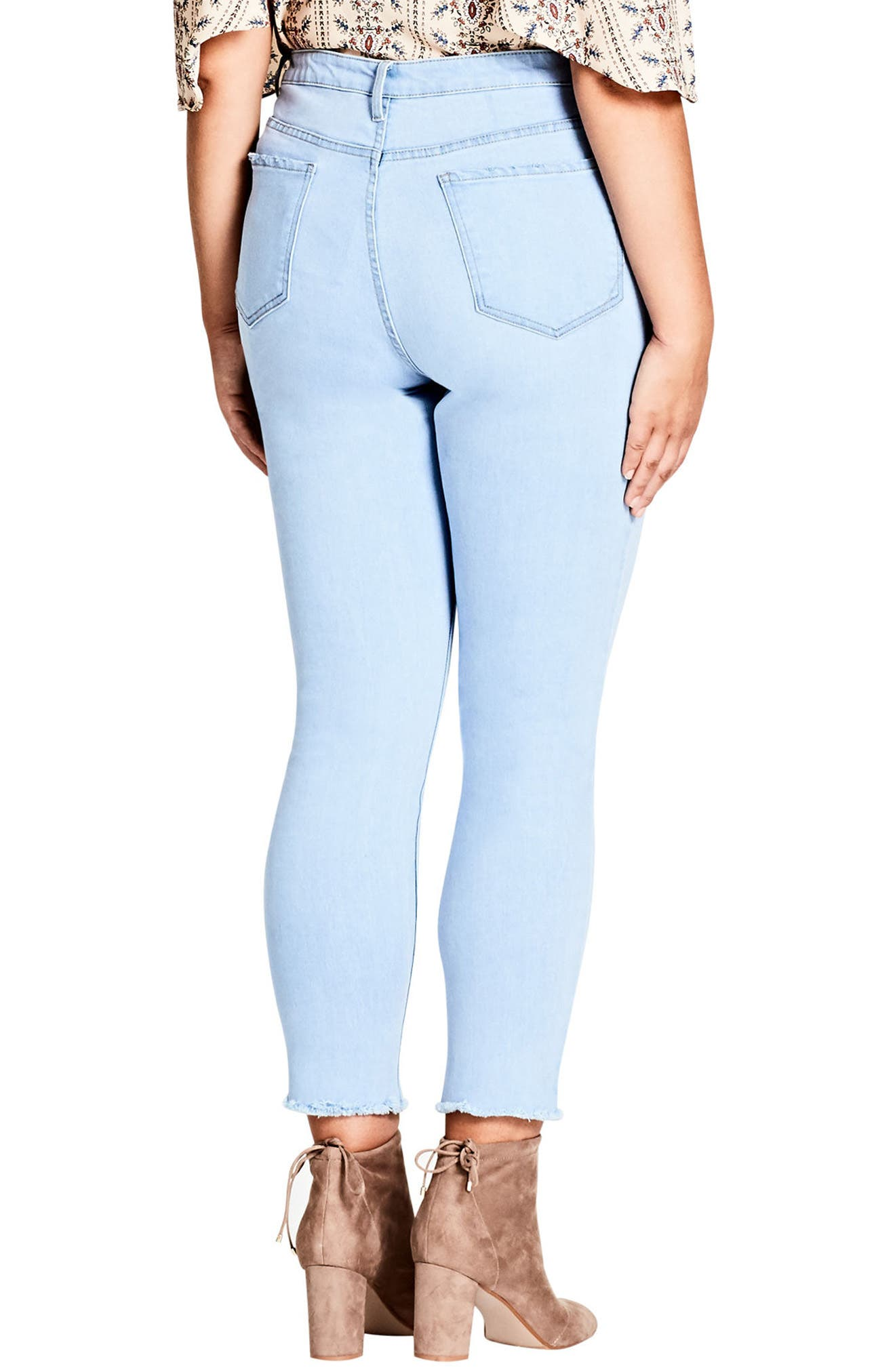 Ice Queen Crop Skinny Jeans,                             Alternate thumbnail 2, color,                             400