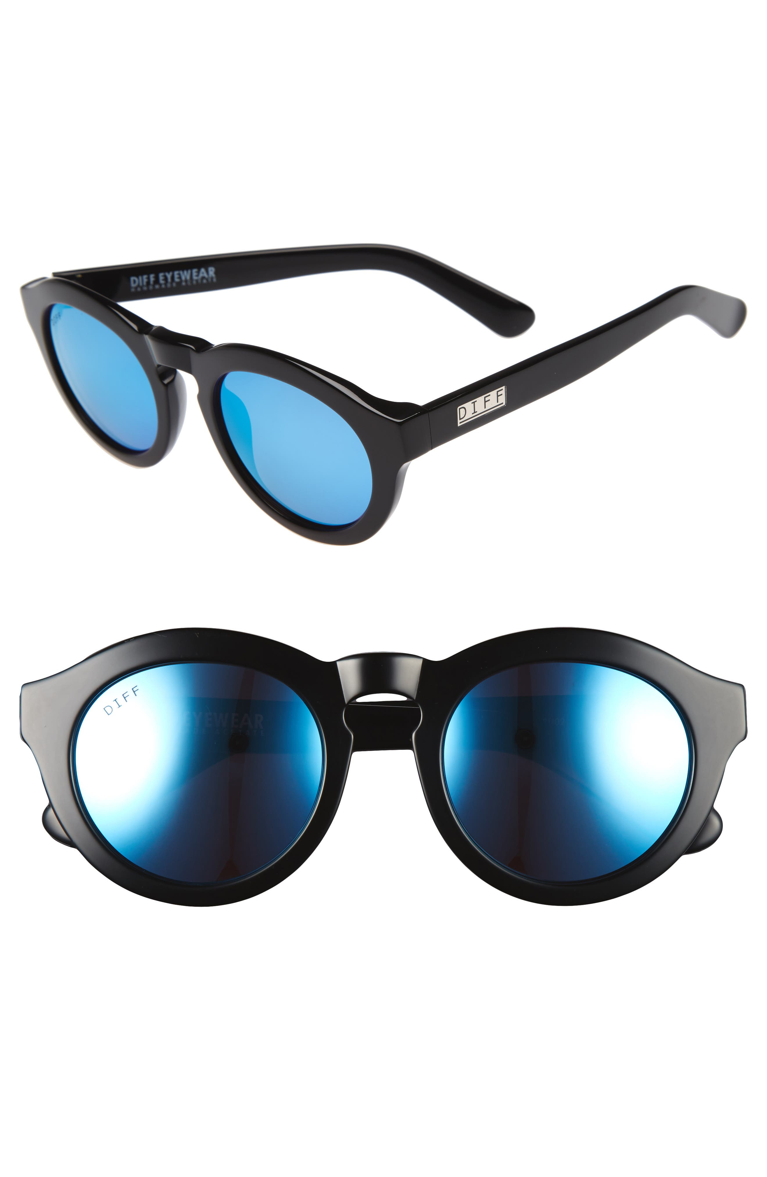 Dime 48mm Retro Sunglasses,                             Main thumbnail 3, color,