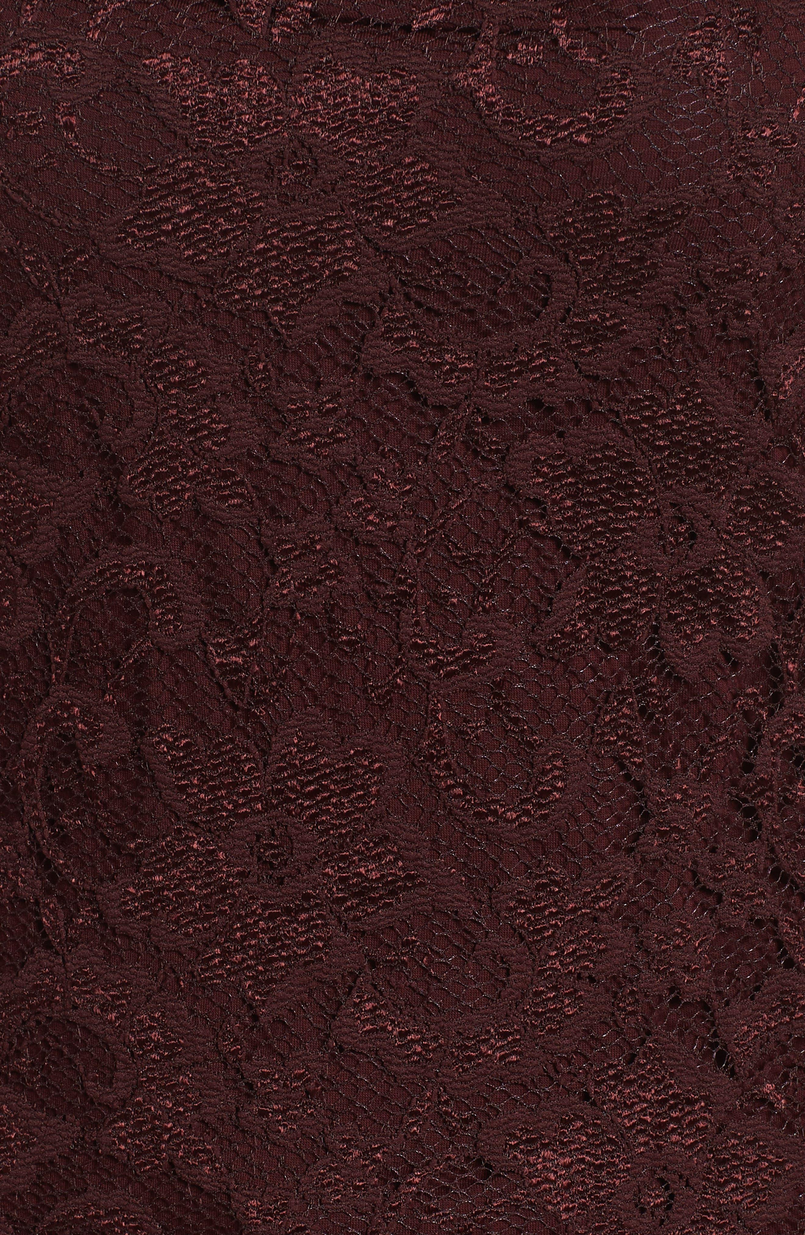 BAILEY 44,                             Black Site Off the Shoulder Lace Top,                             Alternate thumbnail 5, color,                             930
