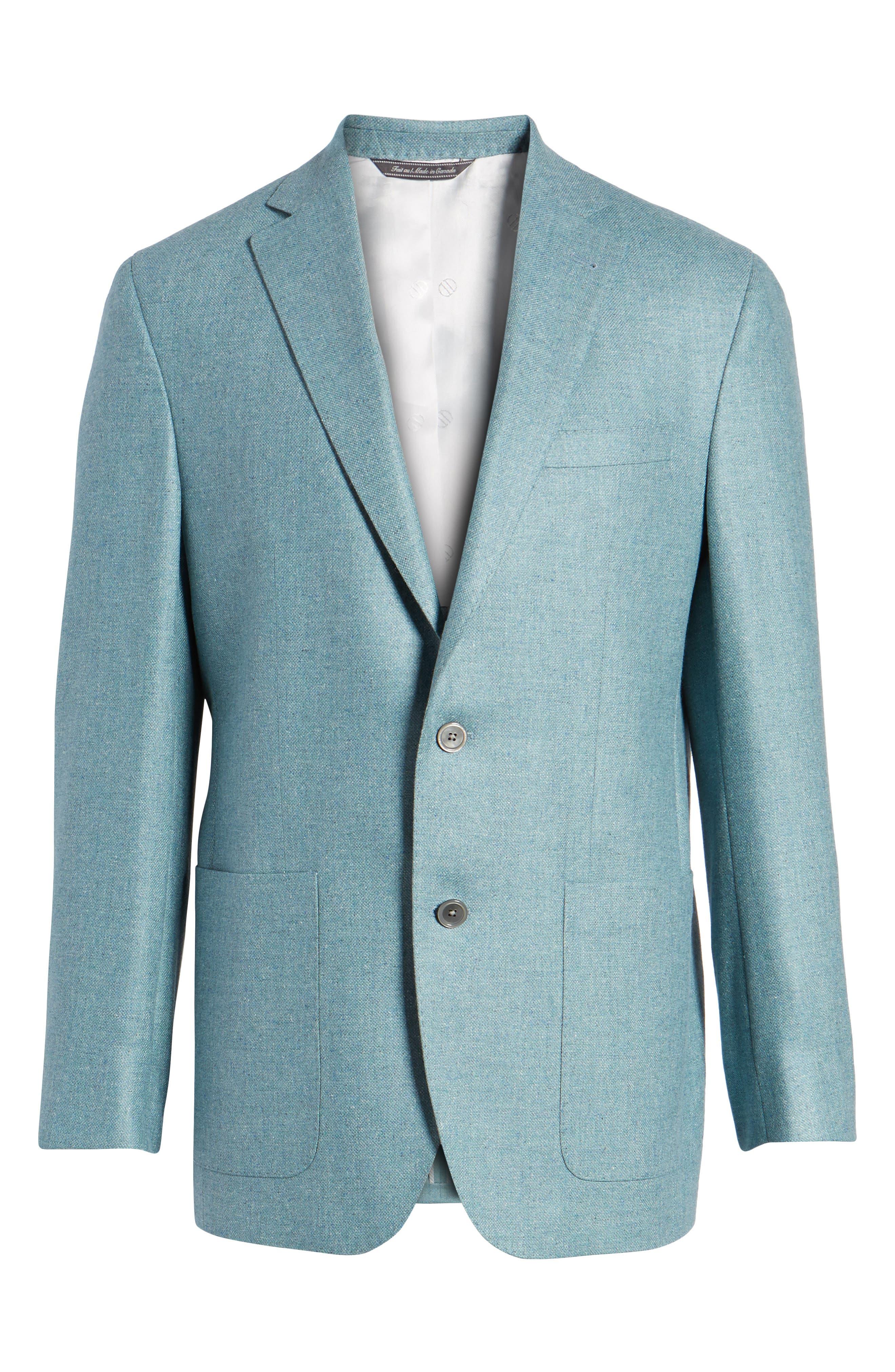 Aiden Classic Fit Silk & Wool Blazer,                             Alternate thumbnail 5, color,