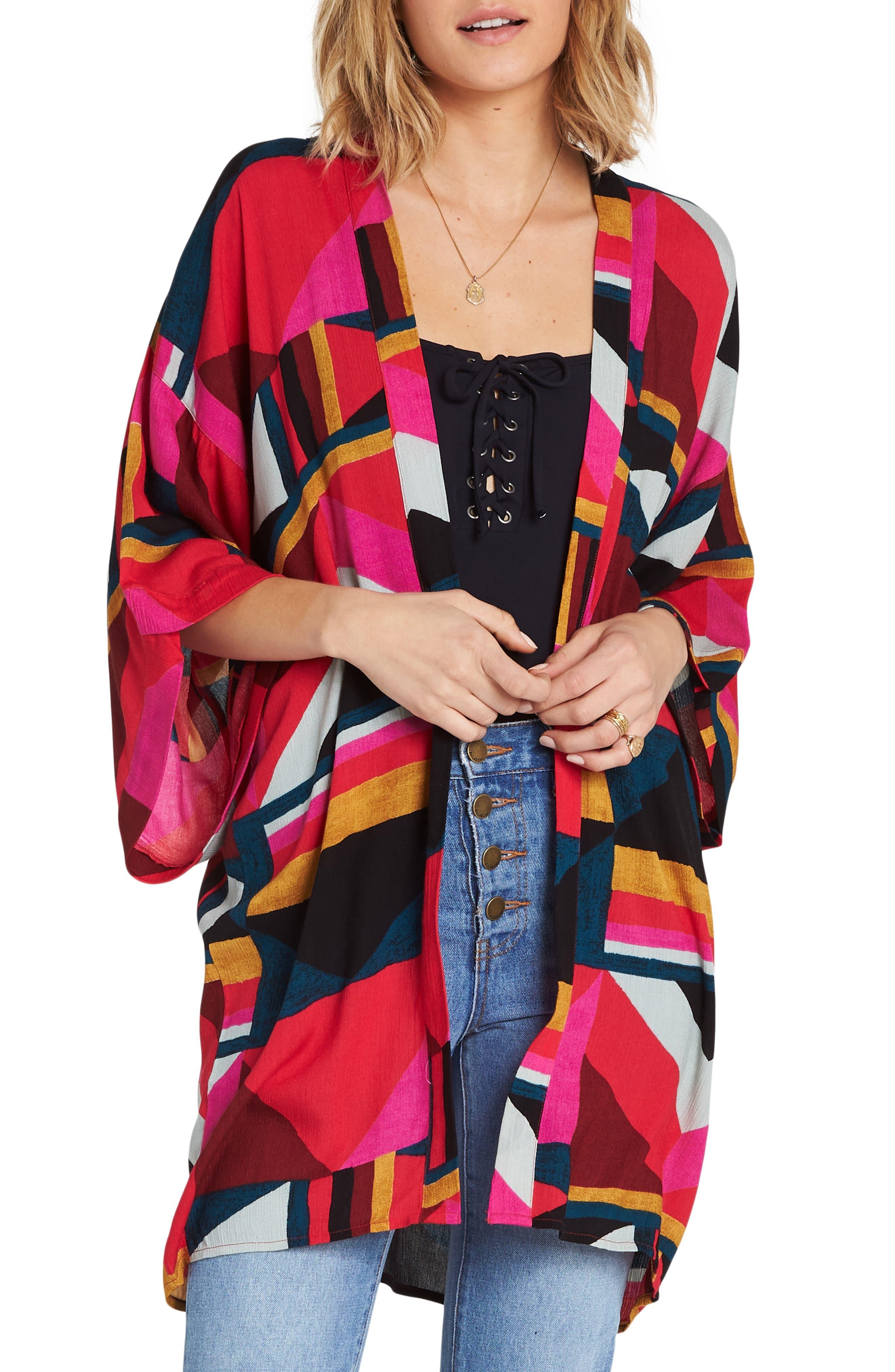 Precious Stone Kimono,                         Main,                         color, MULTI