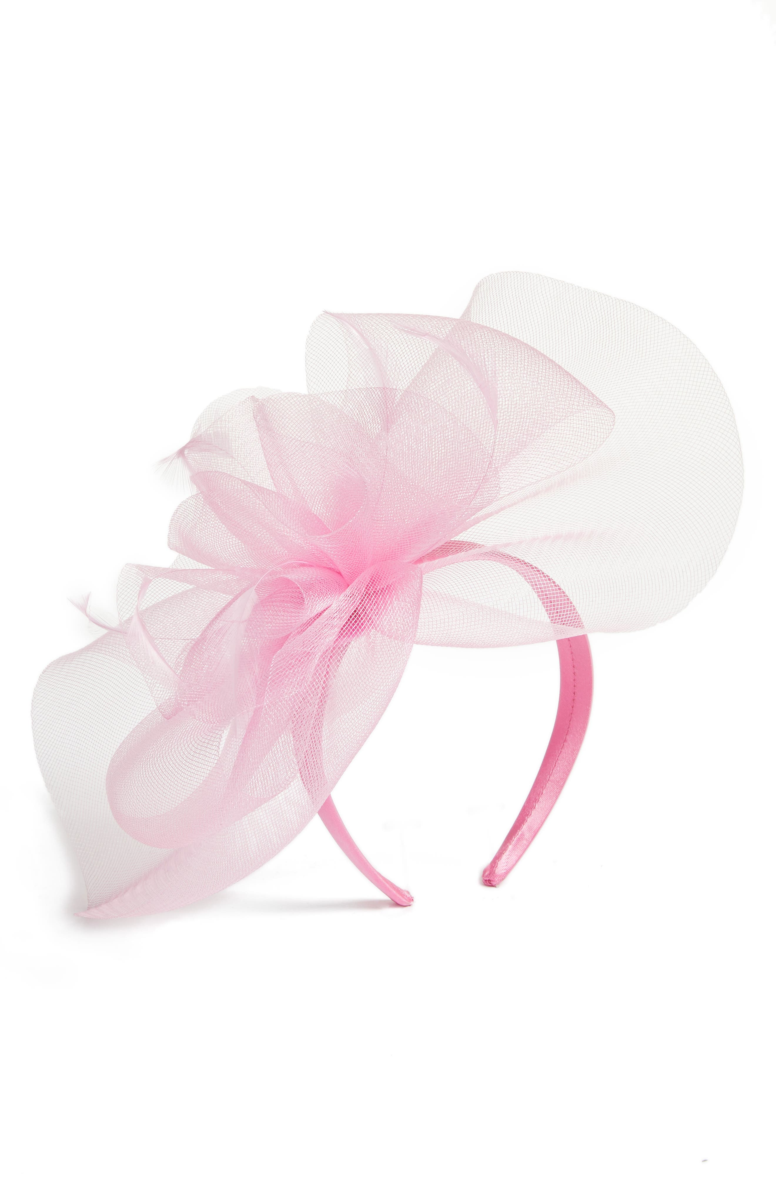 Feather Bouquet Fascinator Headband,                             Main thumbnail 1, color,                             660