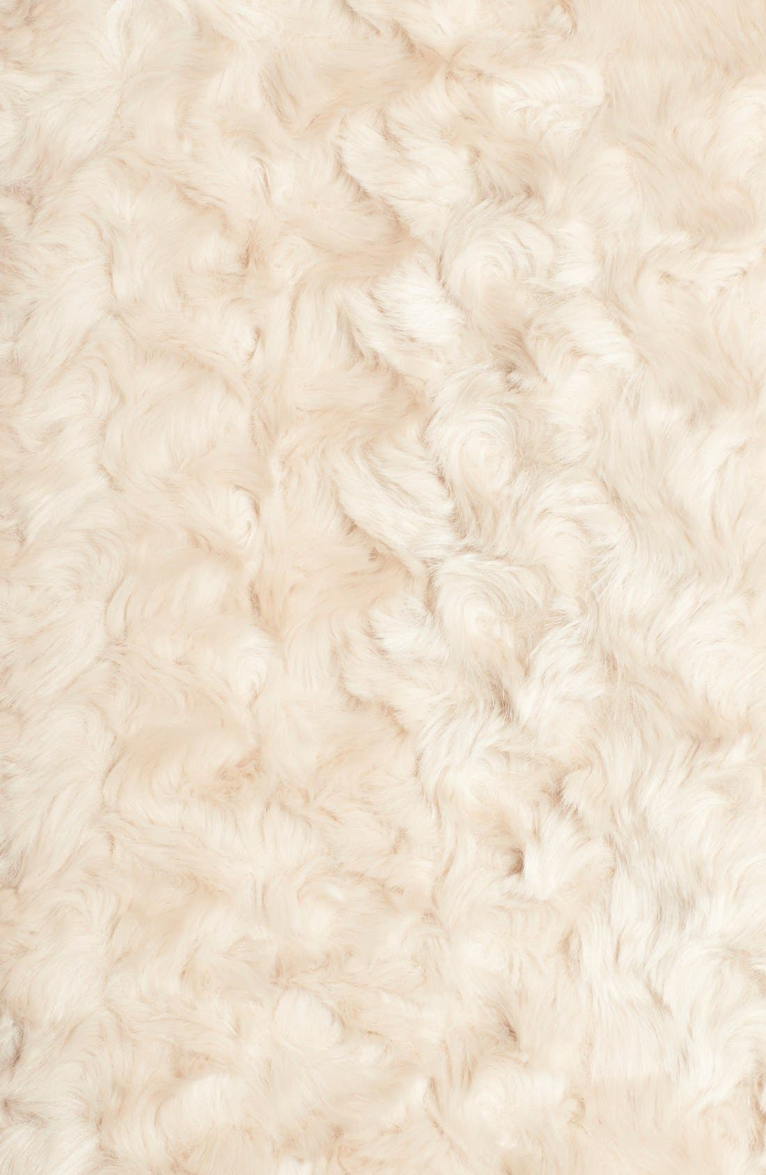 'Sheri' Drape Front Faux Fur Vest,                             Alternate thumbnail 3, color,                             276