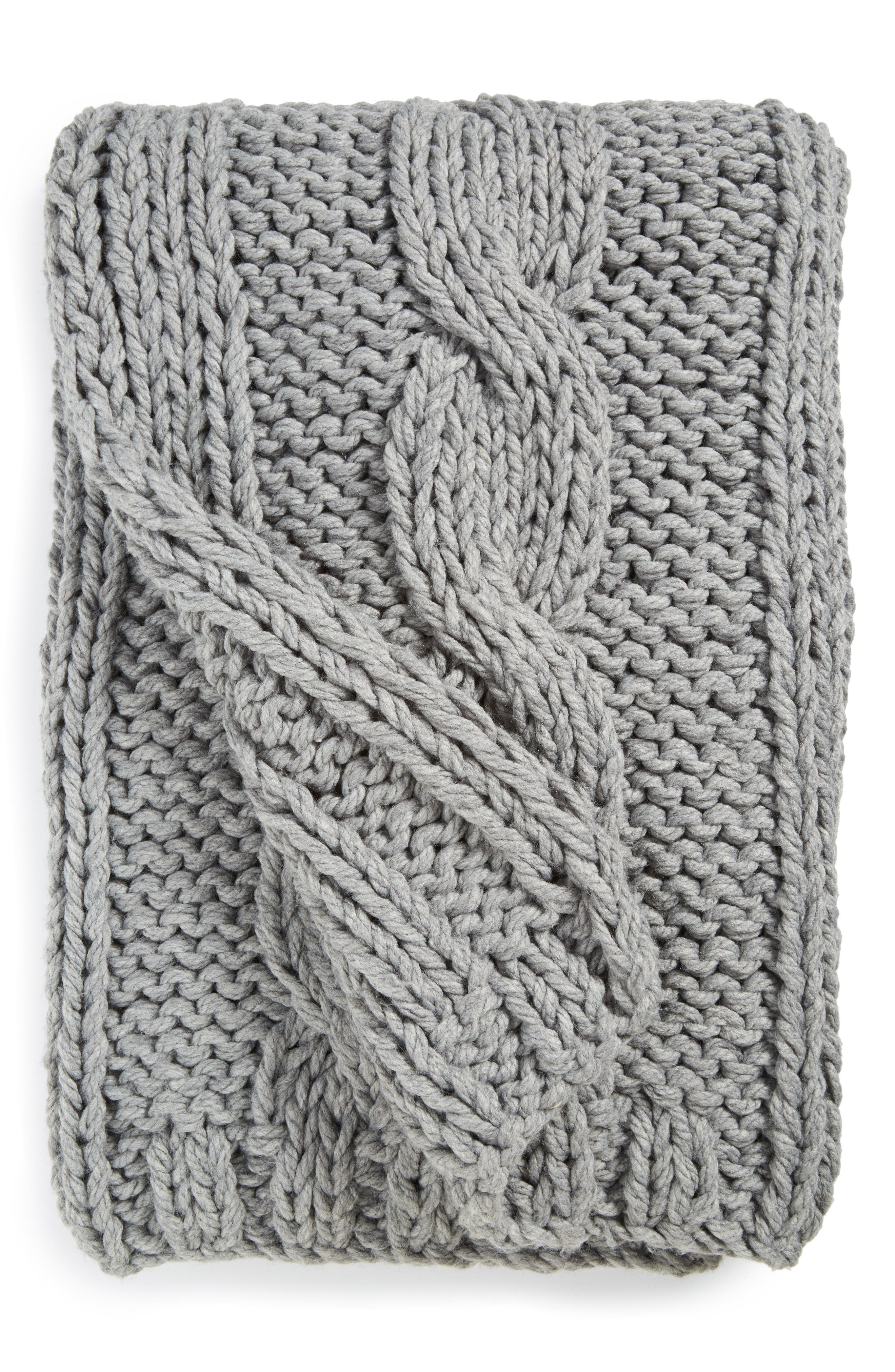 Grand Cable Throw,                             Main thumbnail 1, color,                             020