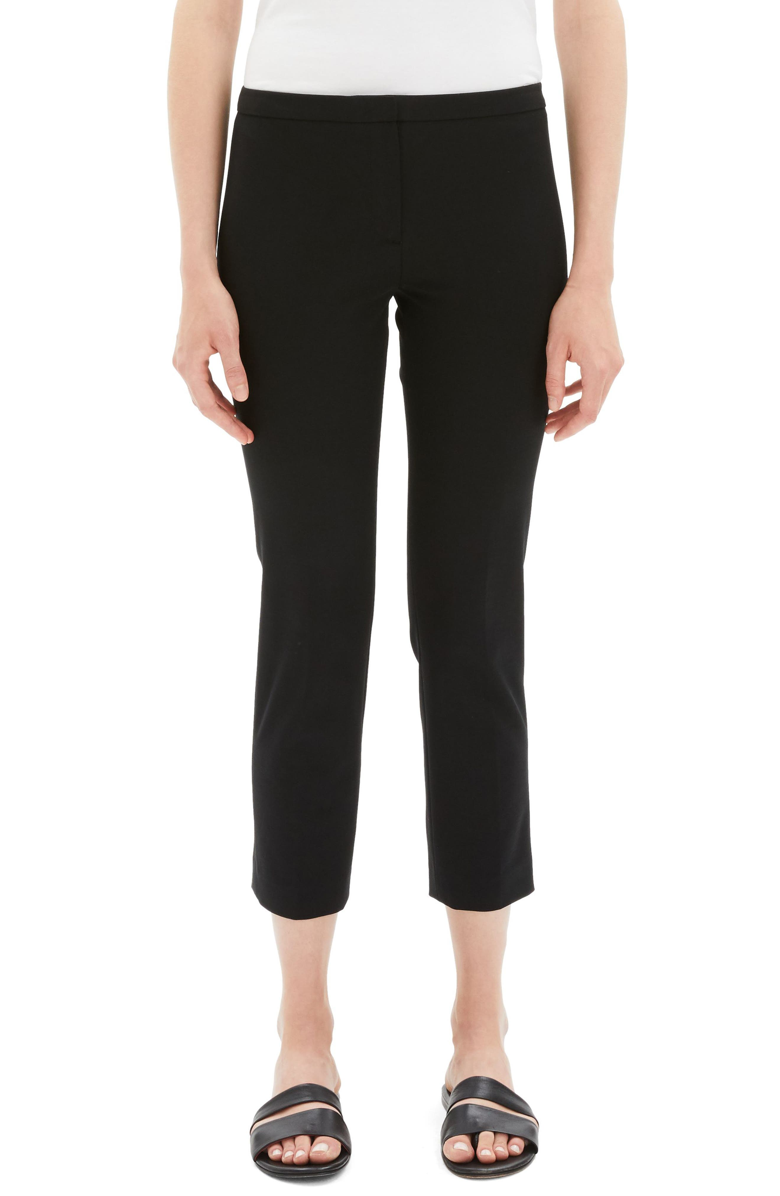 Classic Stretch Cotton Skinny Pants,                         Main,                         color, BLACK